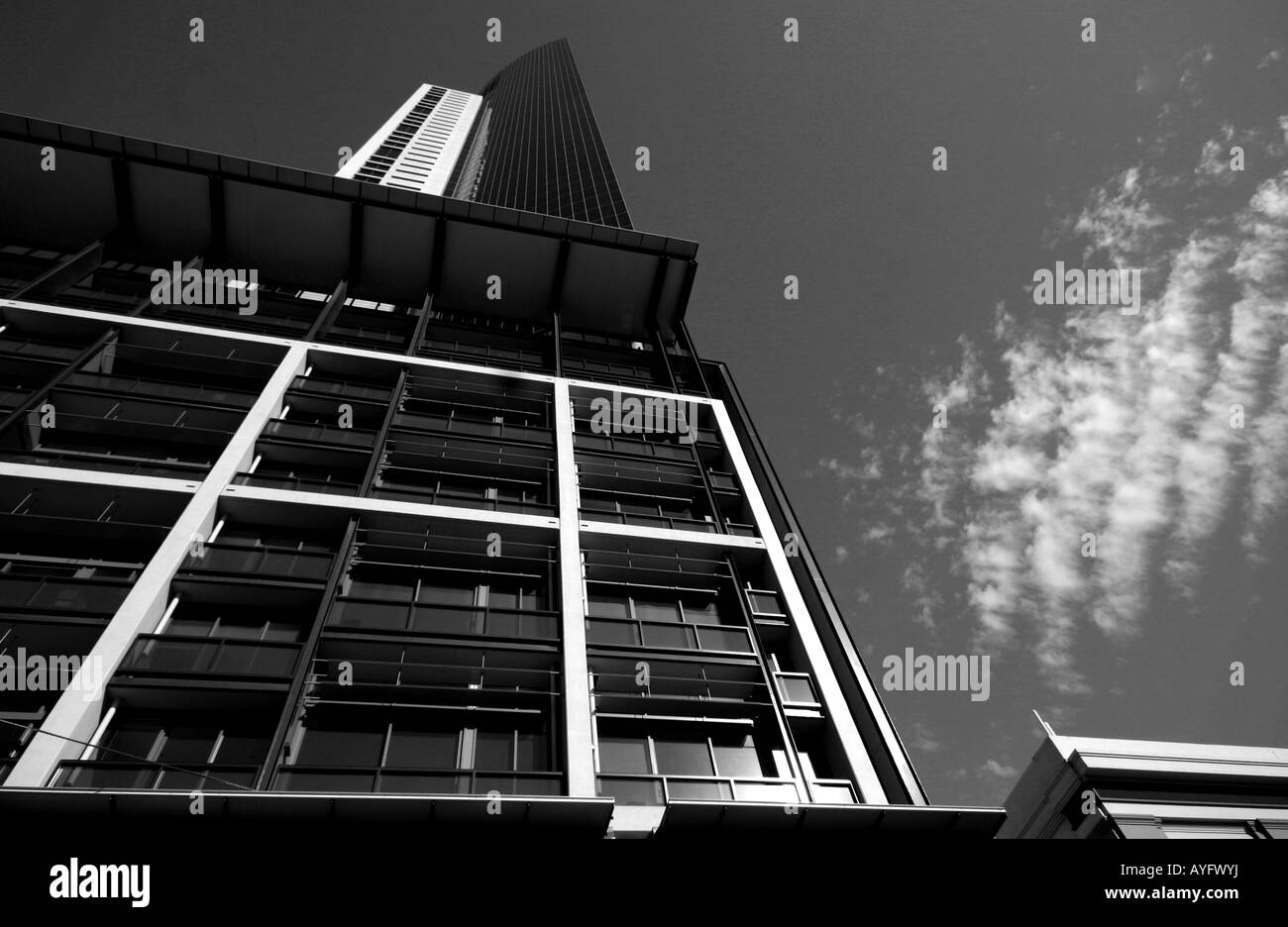picure of a skyscaper in melbourne - Stock Image