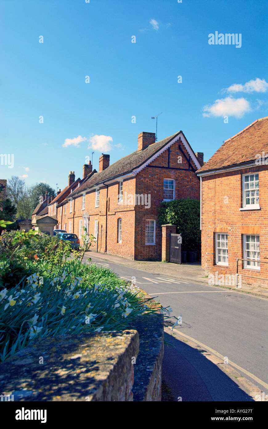Terraced Cottages in Priory Road, Wantage, Oxfordshire, England - Stock Image