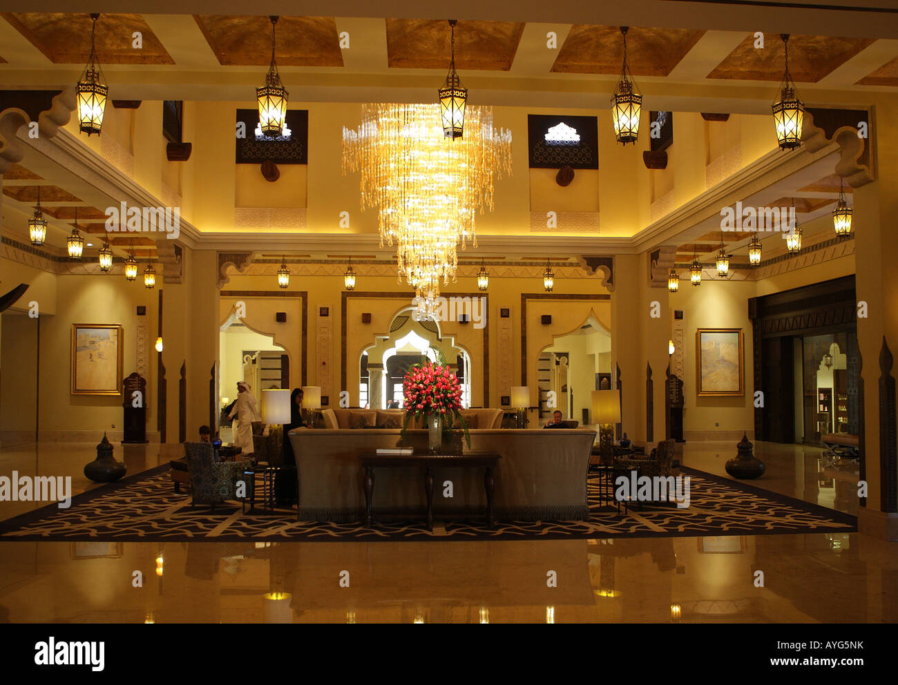 Five Star luxury hotel The Ritz Carlton Sharq Village and Spa in Doha, Qatar - Stock Image
