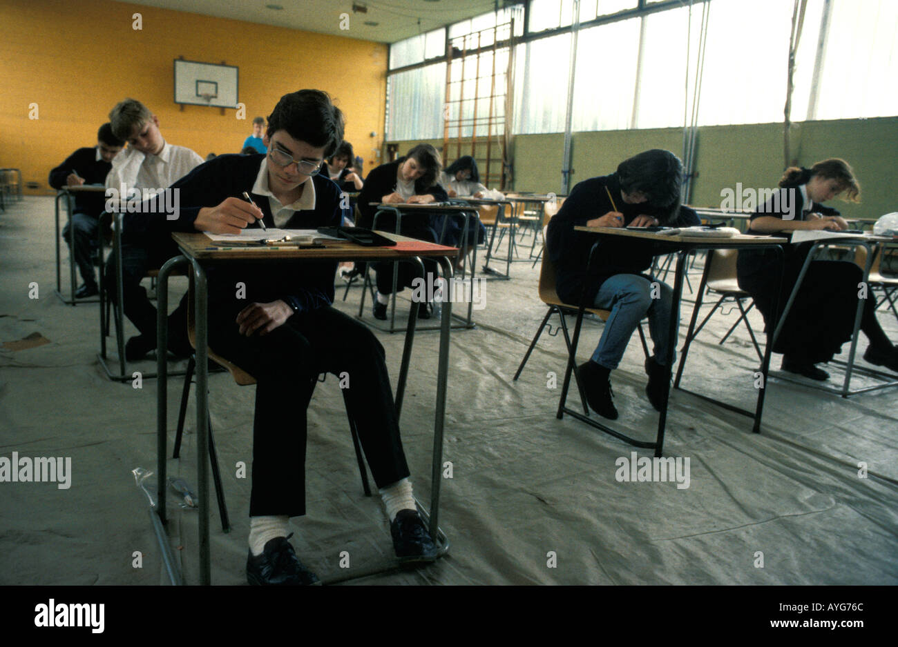 GCSE exams - Stock Image