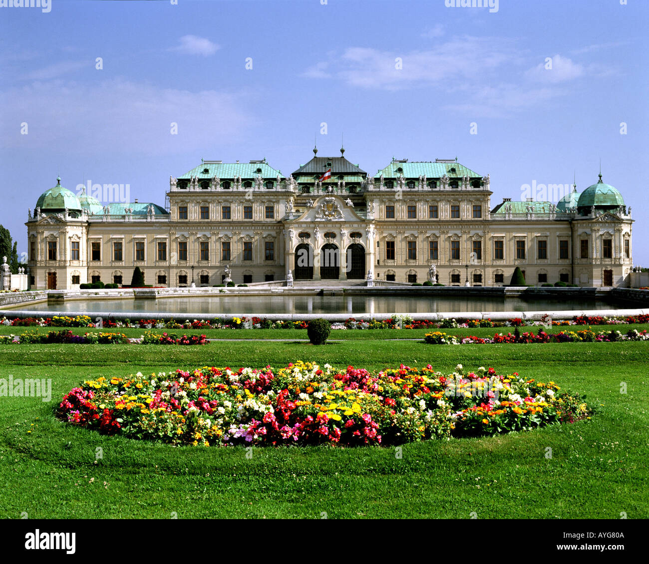 AT - VIENNA: Belvedere Palace and Gardens - Stock Image