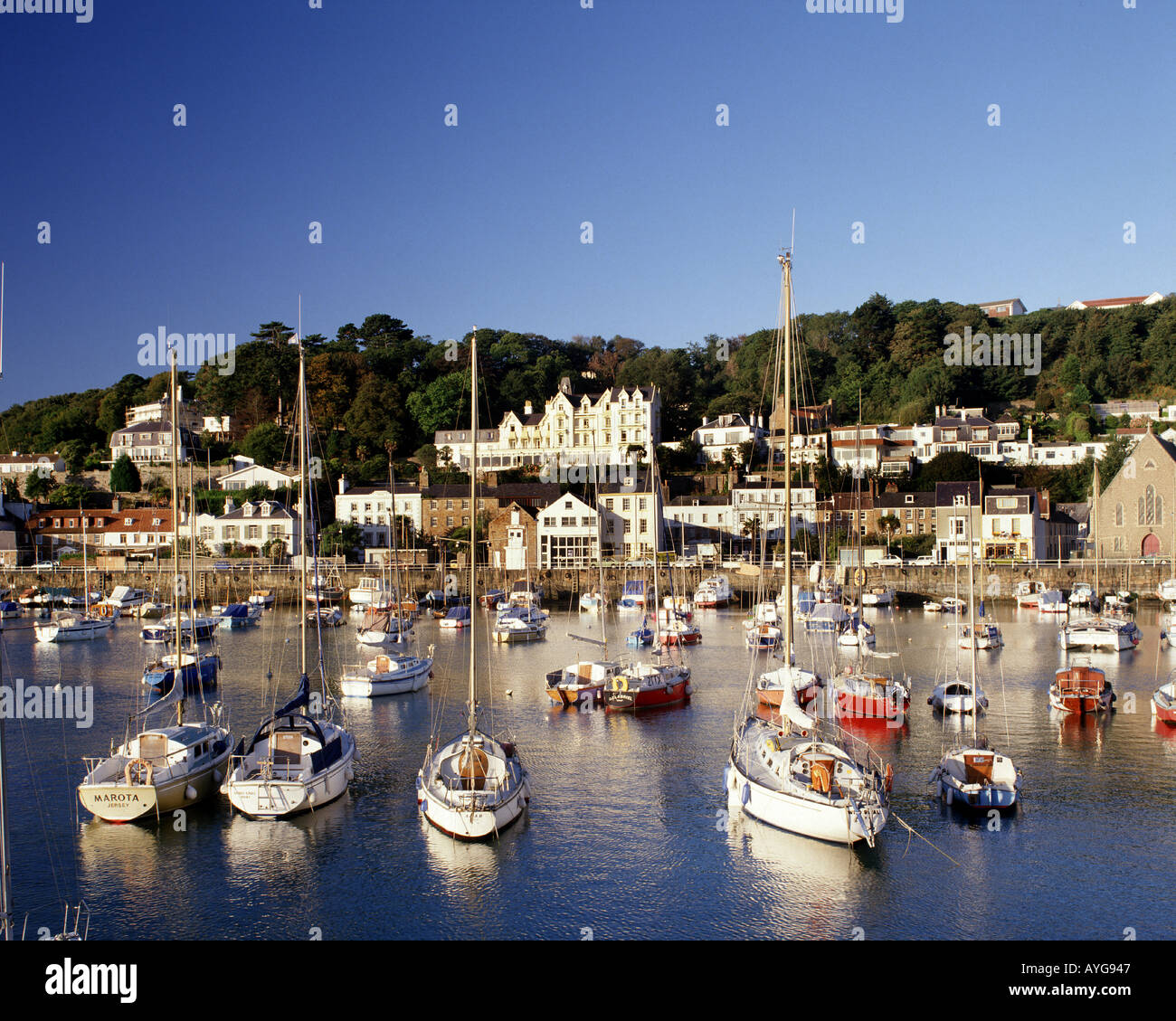 GB - JERSEY: The Harbour at St Aubin - Stock Image