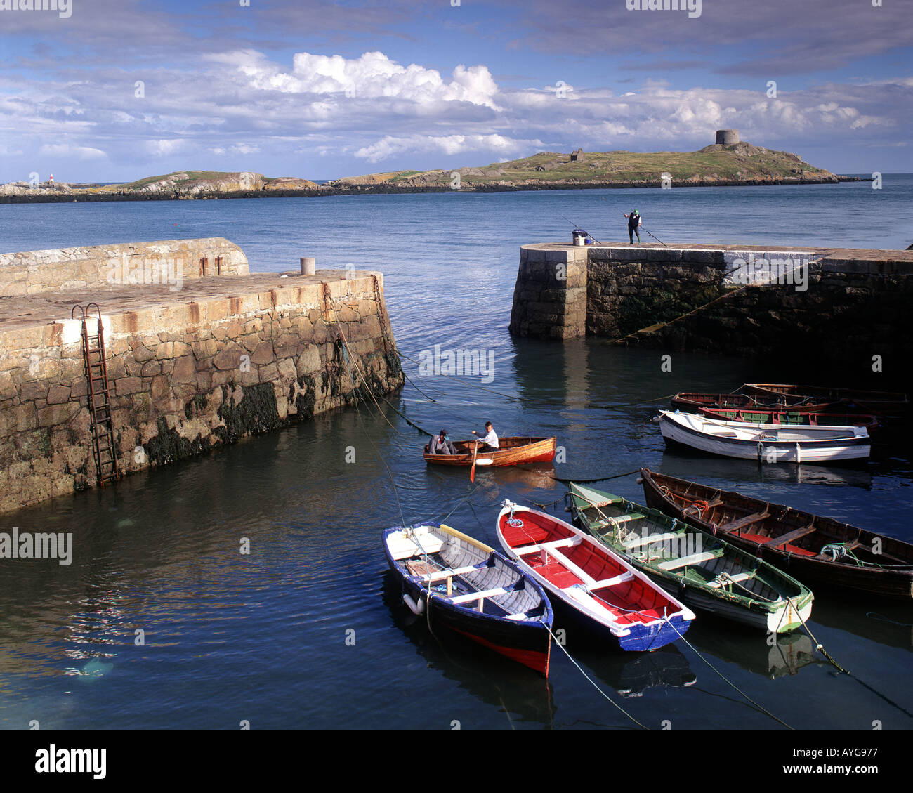 IE - CO. DUBLIN: Coliemore Harbour at Dalkey - Stock Image