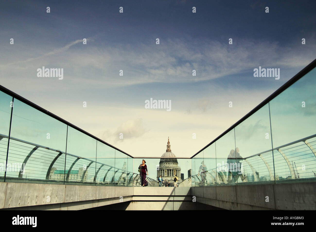 millennium bridge - Stock Image