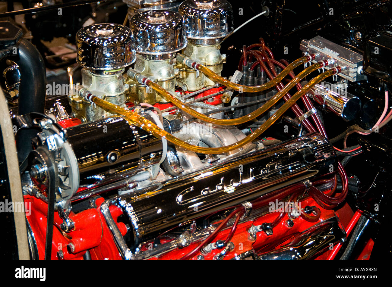 hot rod engine and clear fuel lines AYGBXN hot rod engine and clear fuel lines stock photo 17101484 alamy