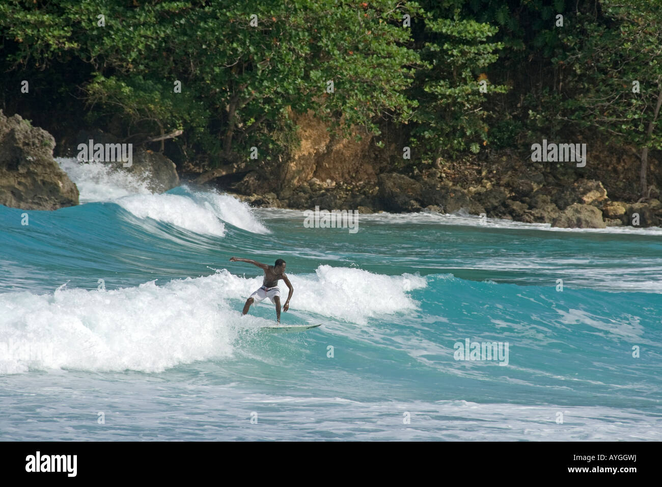 Jamaica Boston bay surfer - Stock Image
