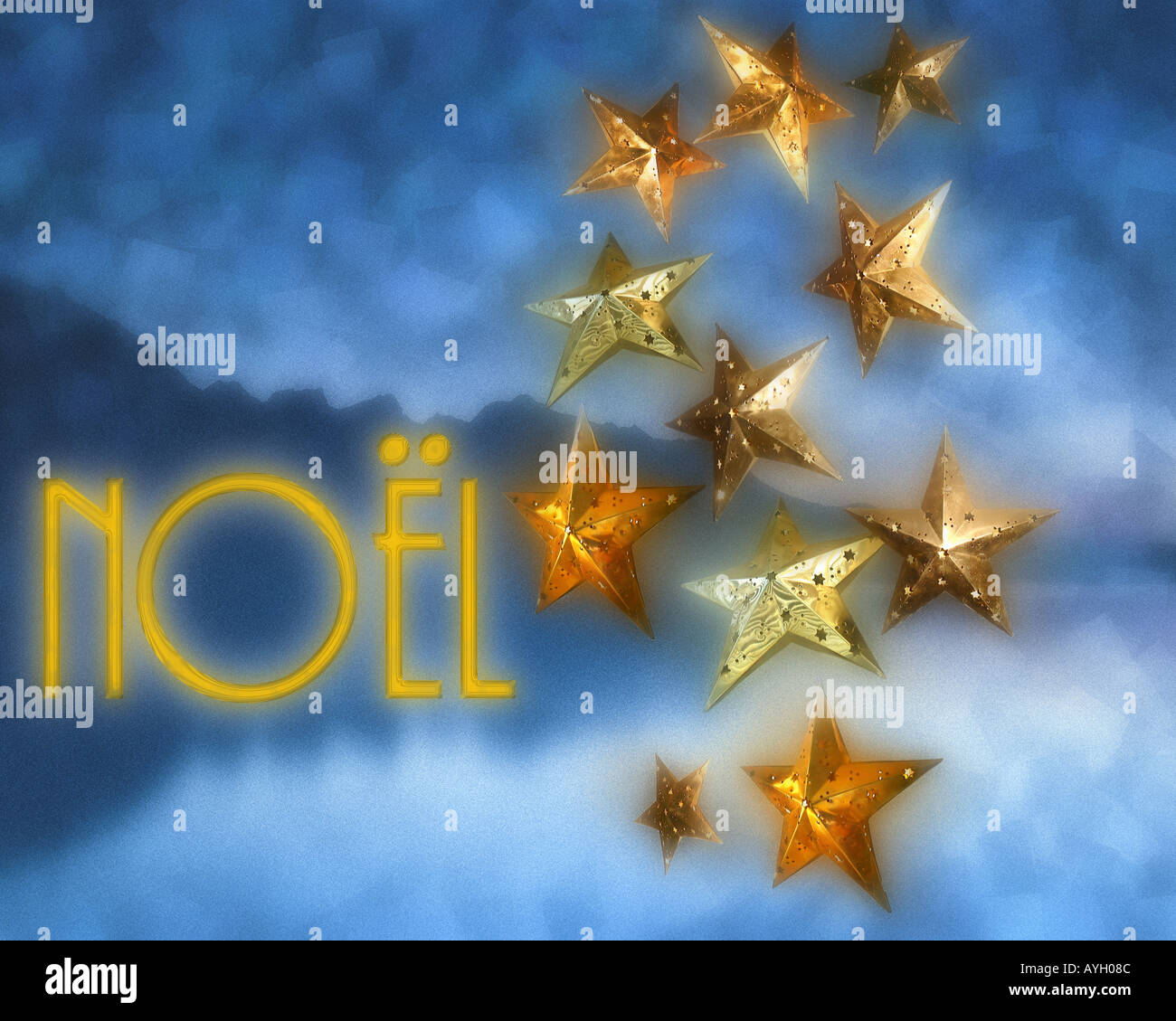 CHRISTMAS DESIGN: Noel - Stock Image