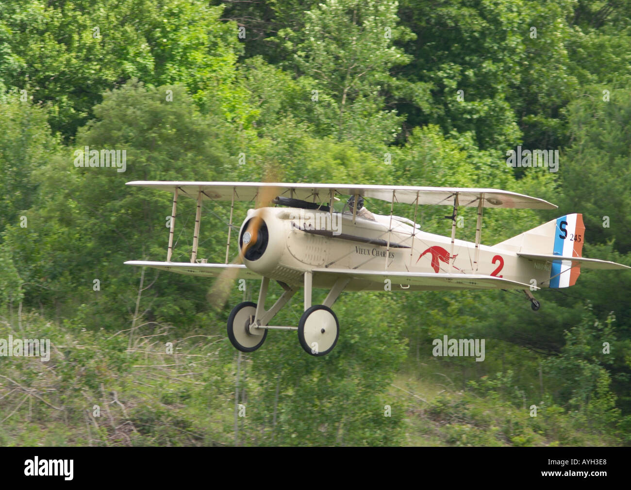 SPAD VII Biplane - Stock Image