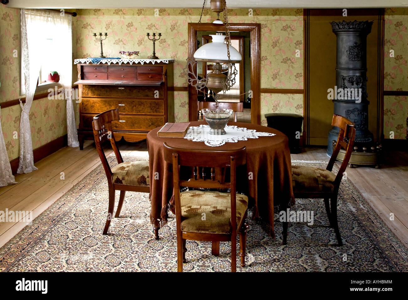 Old sitting room interior - Stock Image