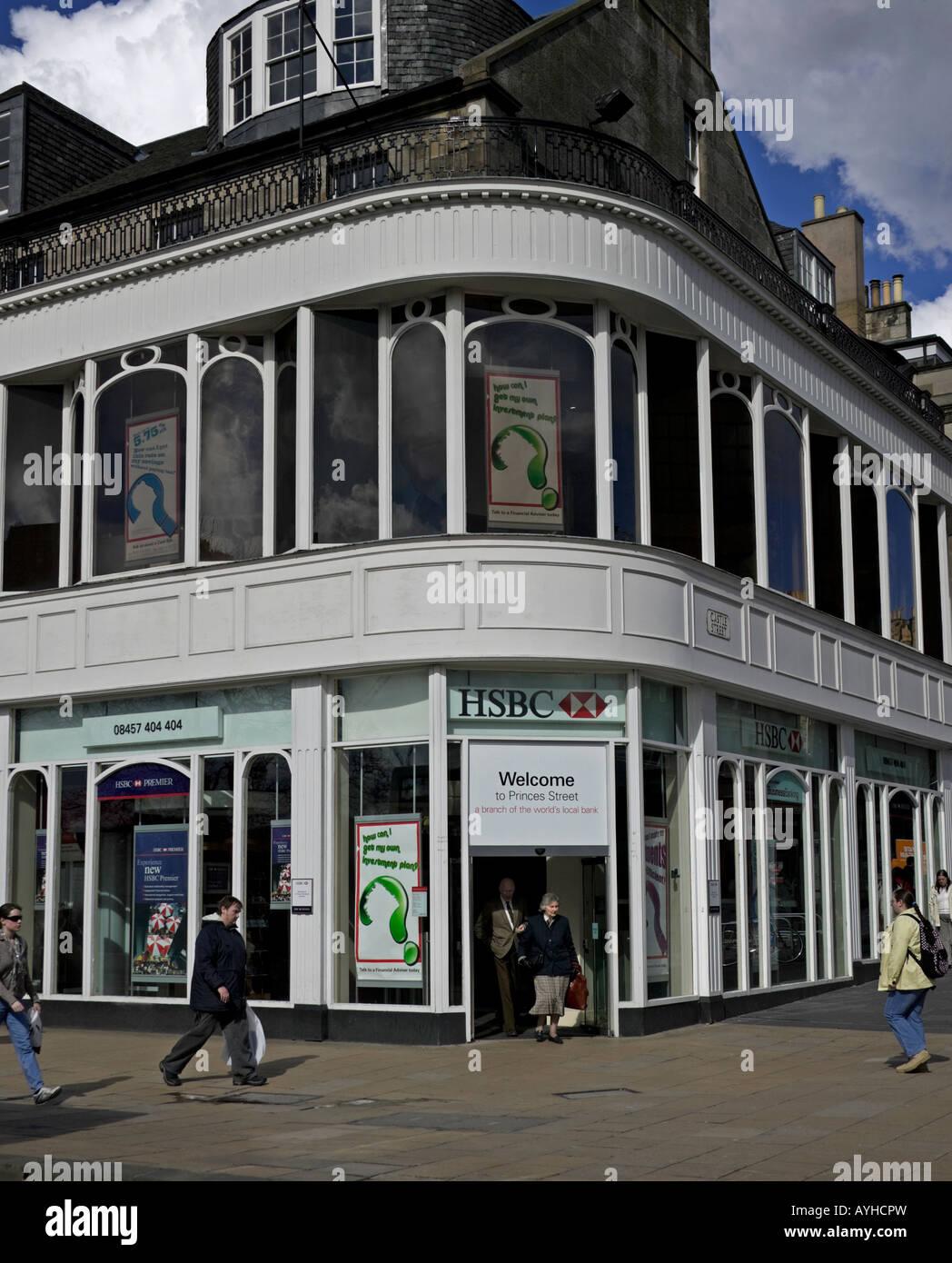 HSBC office, Princes Street, Edinburgh, Scotland, UK, Europe