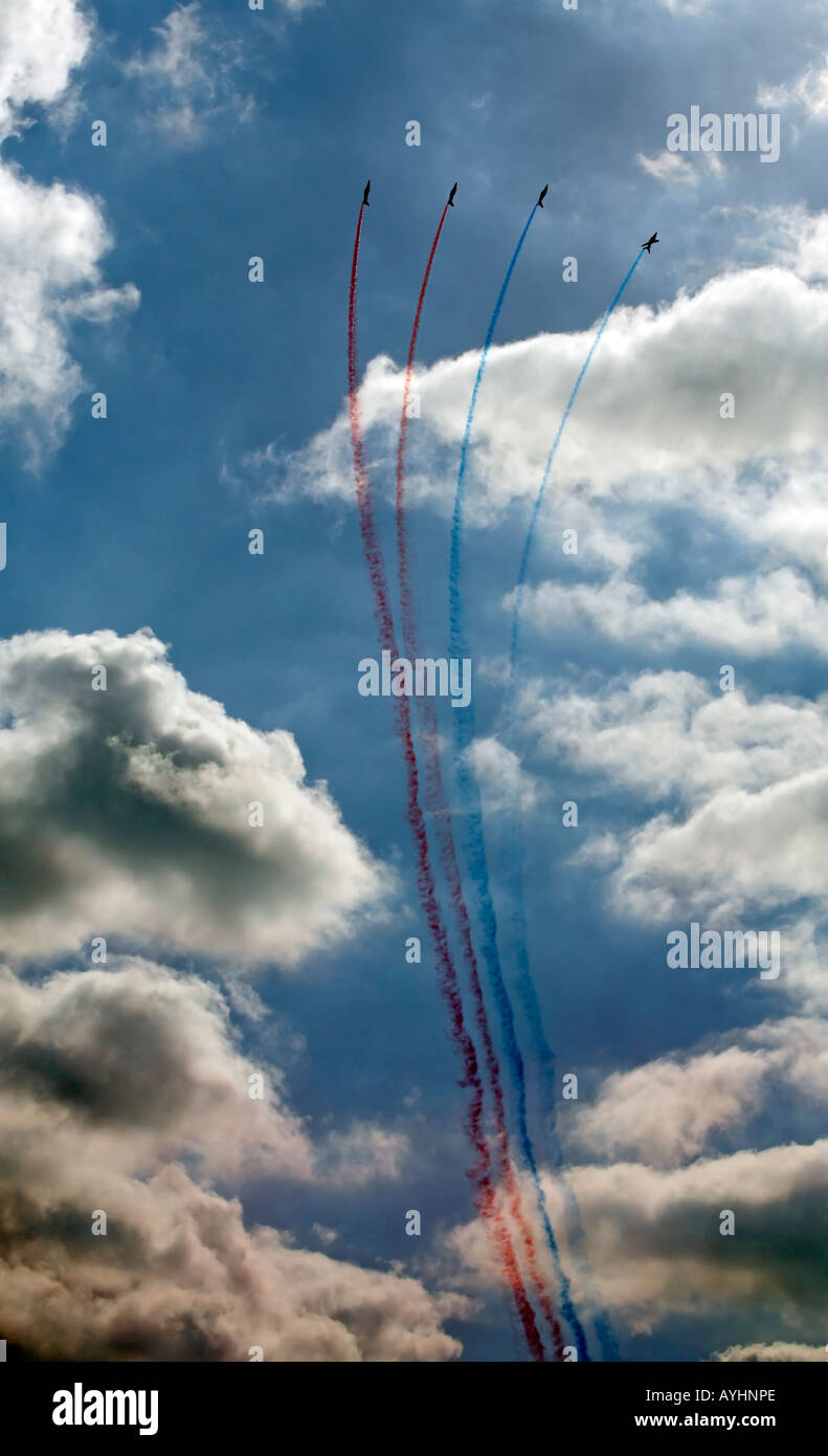 Patrouille de France the French Airforce acrobatic display team - Stock Image