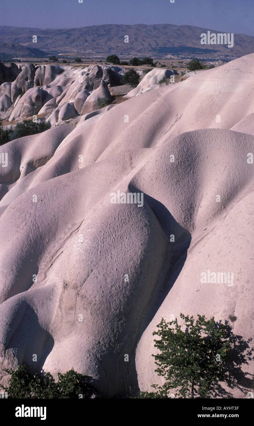 Gebirgslandschaft in Kappadokien Tuerkei - Stock Image