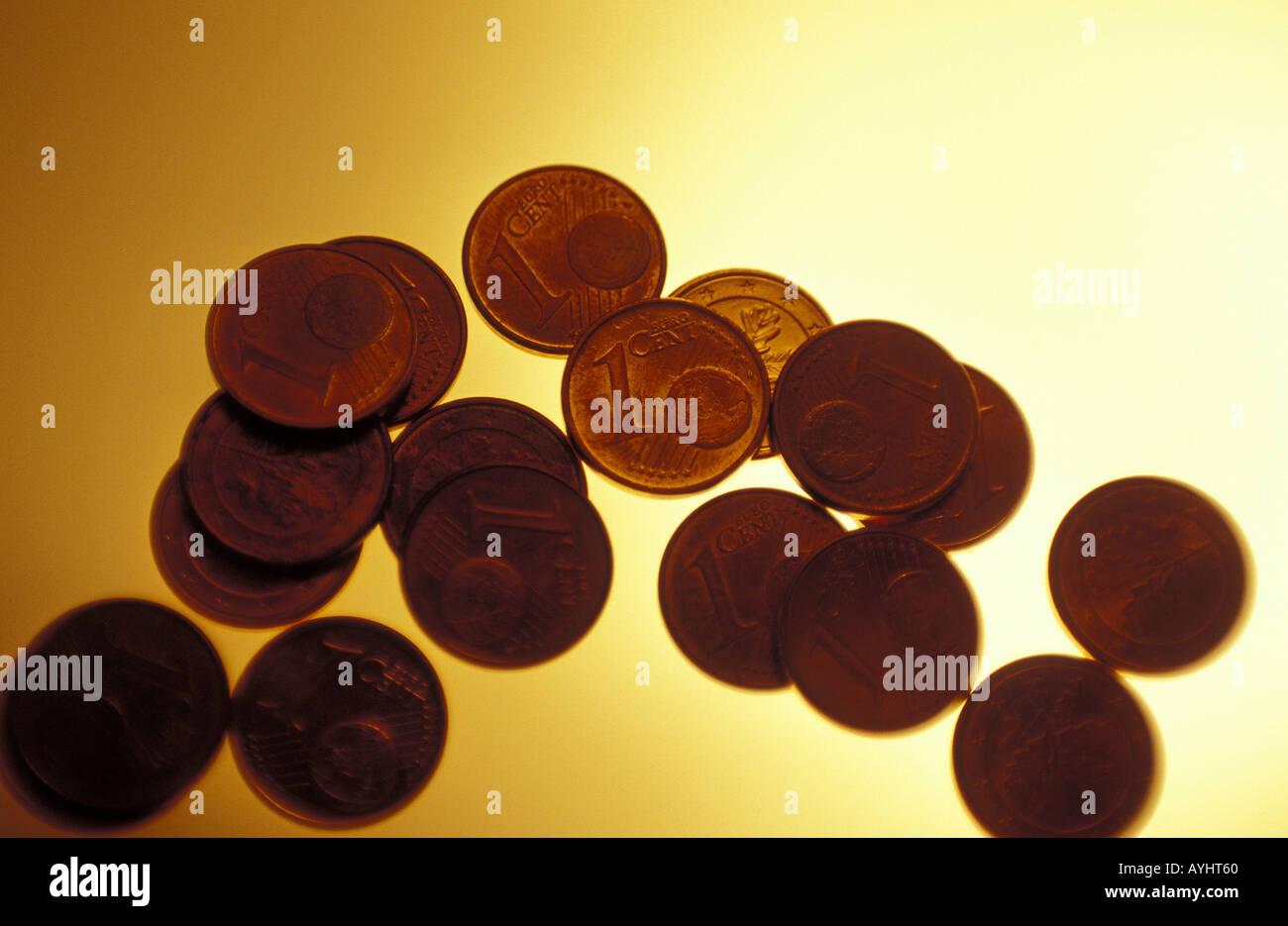 Centmuenzen - Stock Image