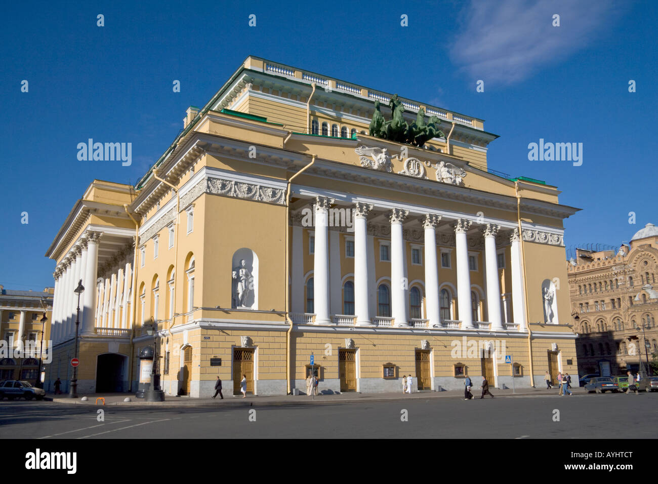 Building of Aleksandrinsky Imperial Ballet Theater established 1756 St Petersburg Russia - Stock Image