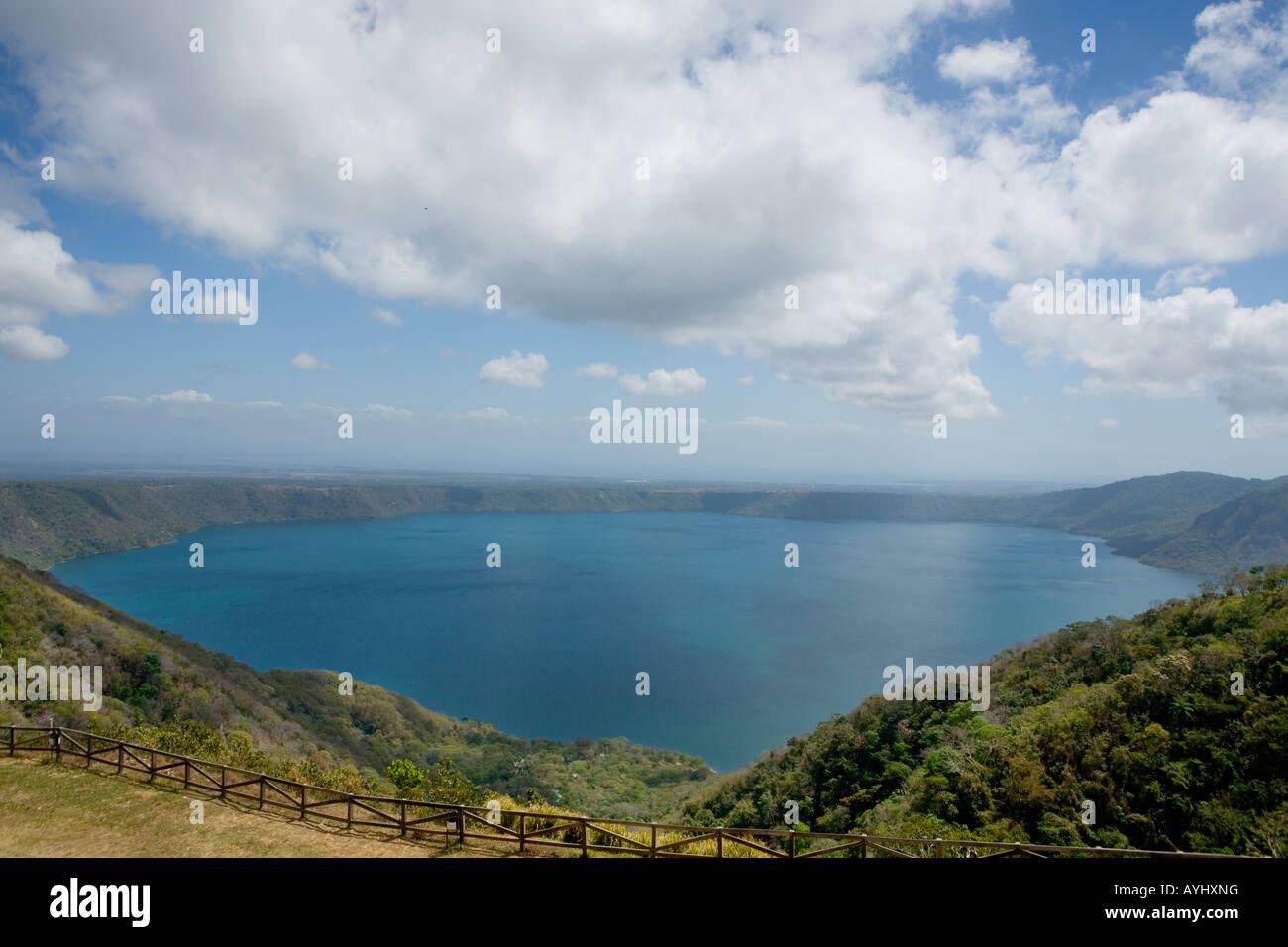 Laguna de Apoyo crater lake Catarina Mirador Nicaragua - Stock Image