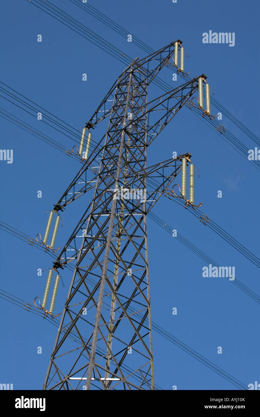 Electricity Transmission Pylon in the UK - Stock Image