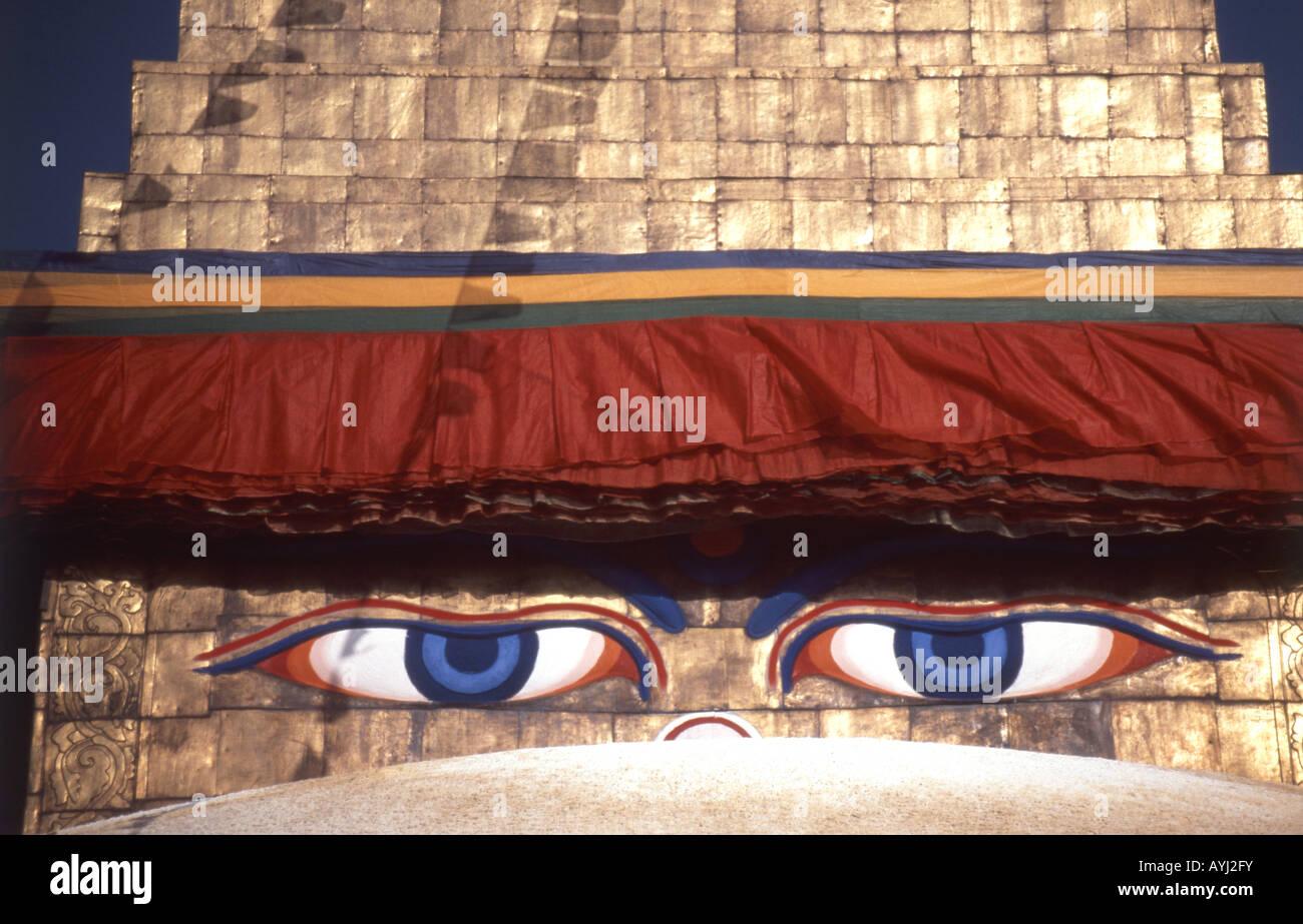Swayambhunath Buddist Stupa, Katmandu Valley, Nepal - Stock Image