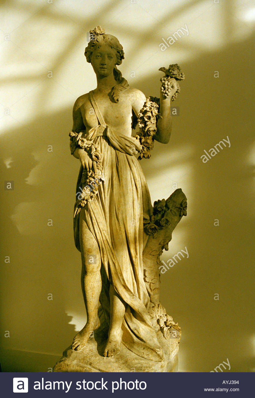 Statue of Flora Roman god of flowers - Stock Image