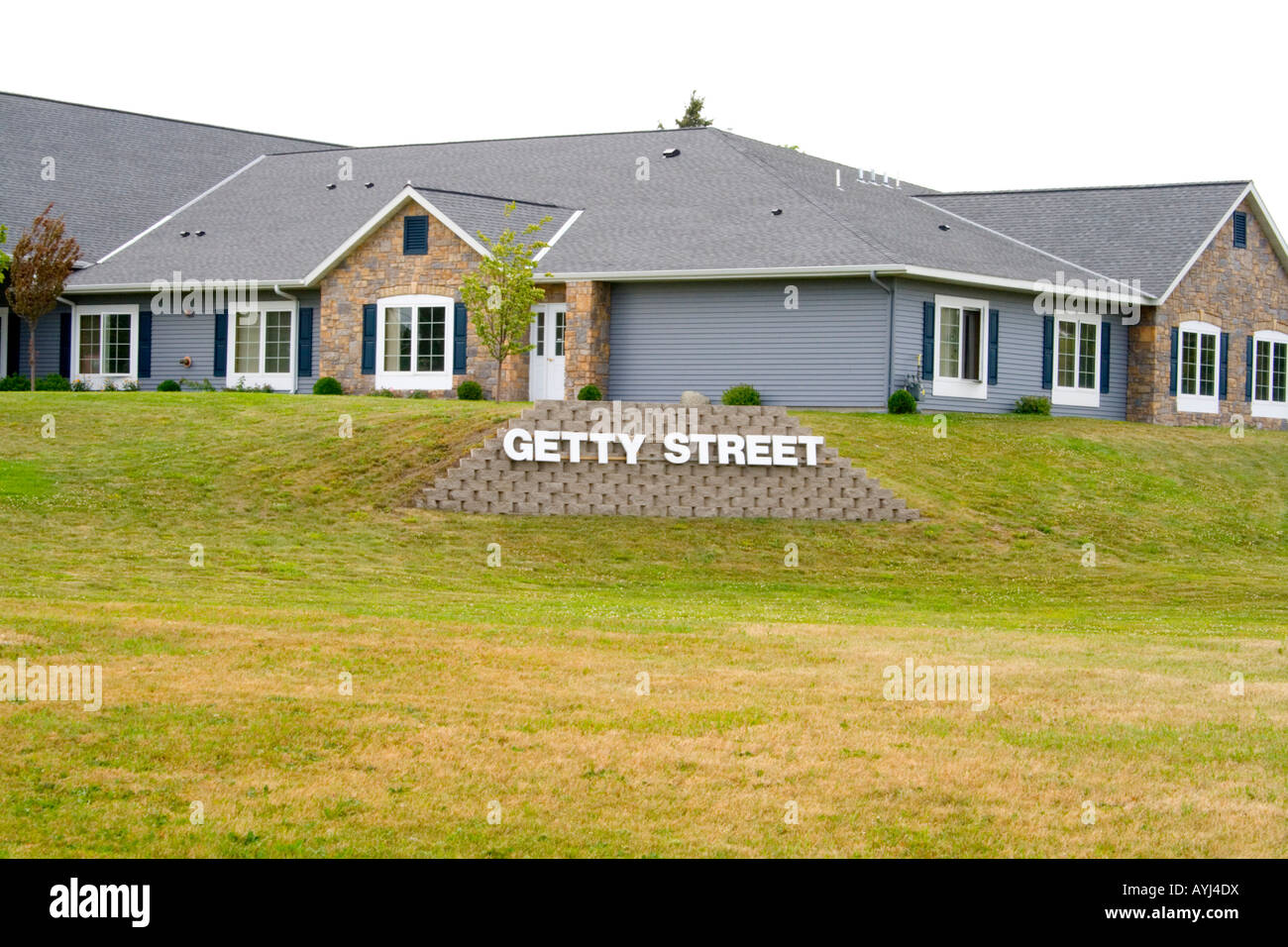Getty Street not the home of Getty Images. Sauk Centre Minnesota USA - Stock Image