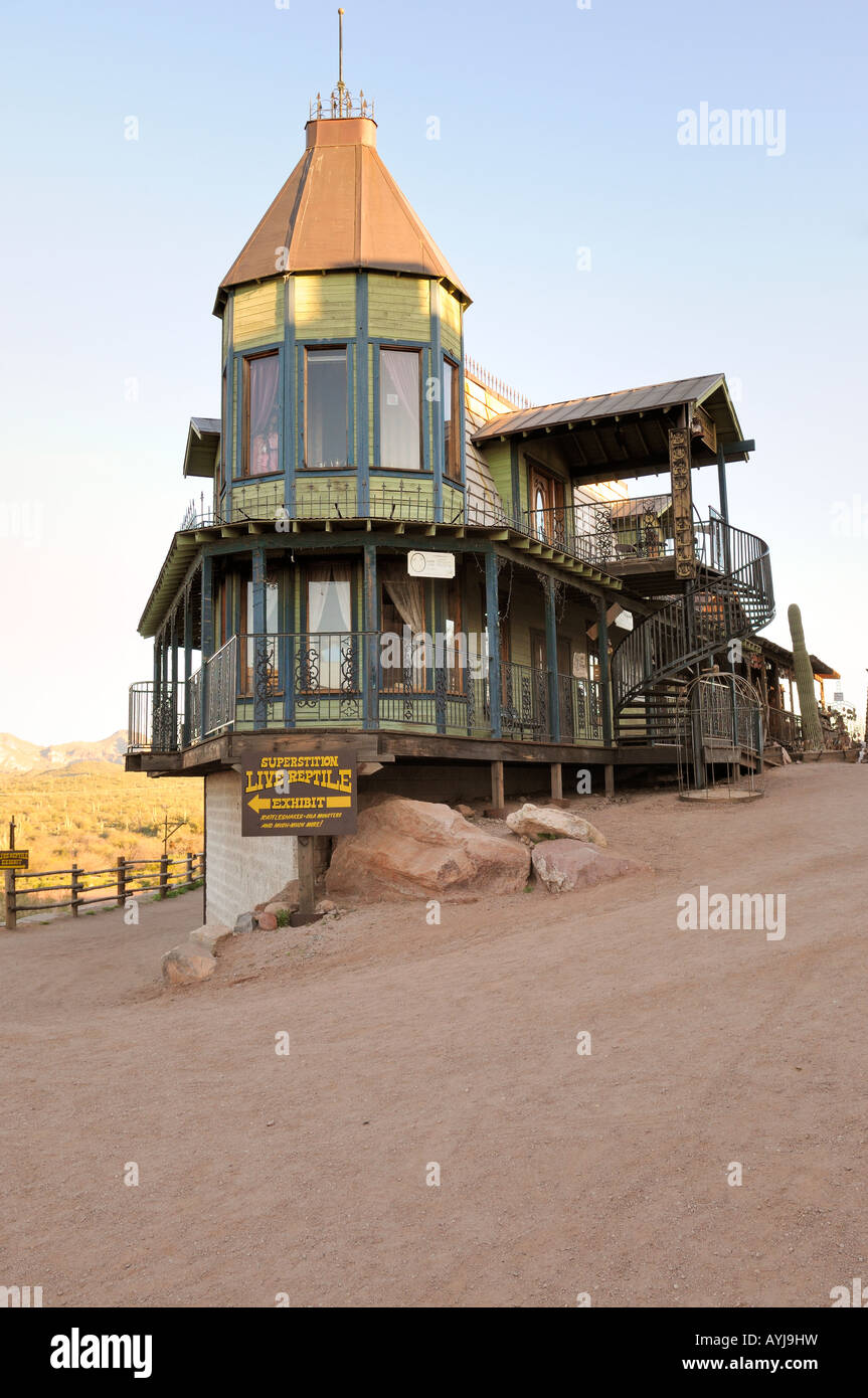 An old victorian style house at Goldfield Ghost Town in Arizona