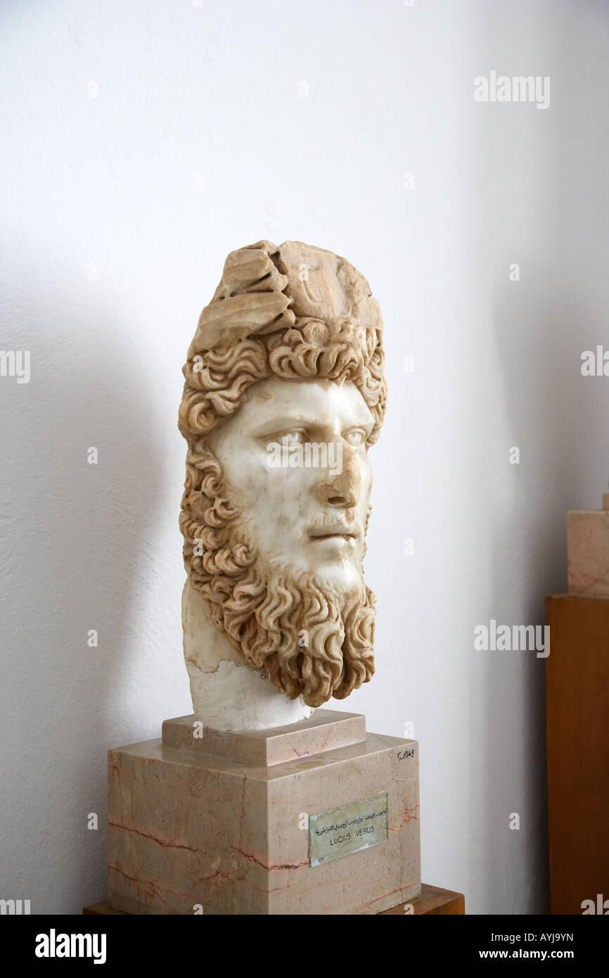 Statue of Lucius Verus in the Bardo Museum, Tunis, Tunisia, North Africa Stock Photo
