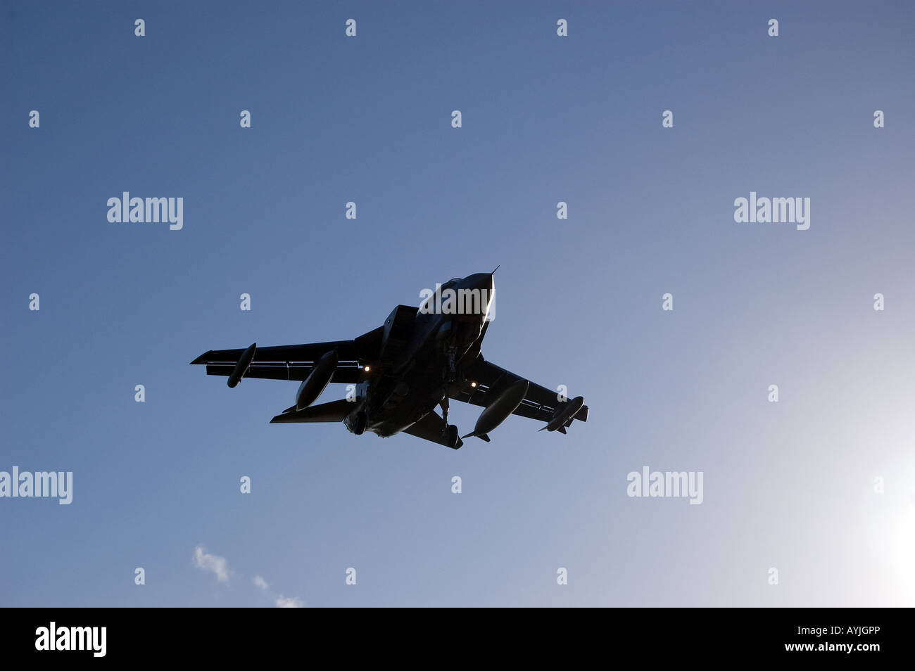 A GR4 Tornado on its final approach - Stock Image