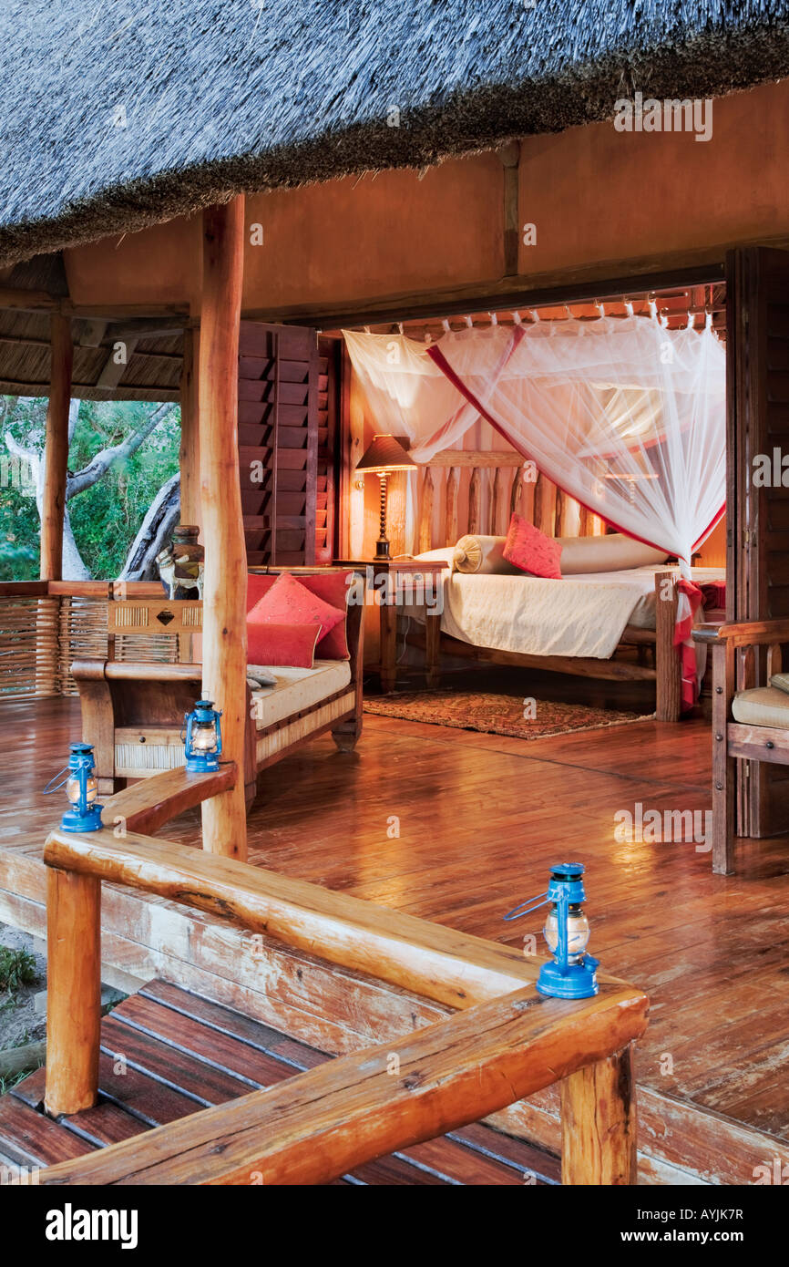 Exclusive luxury accommodation at Benguerra Lodge Mozambique - Stock Image