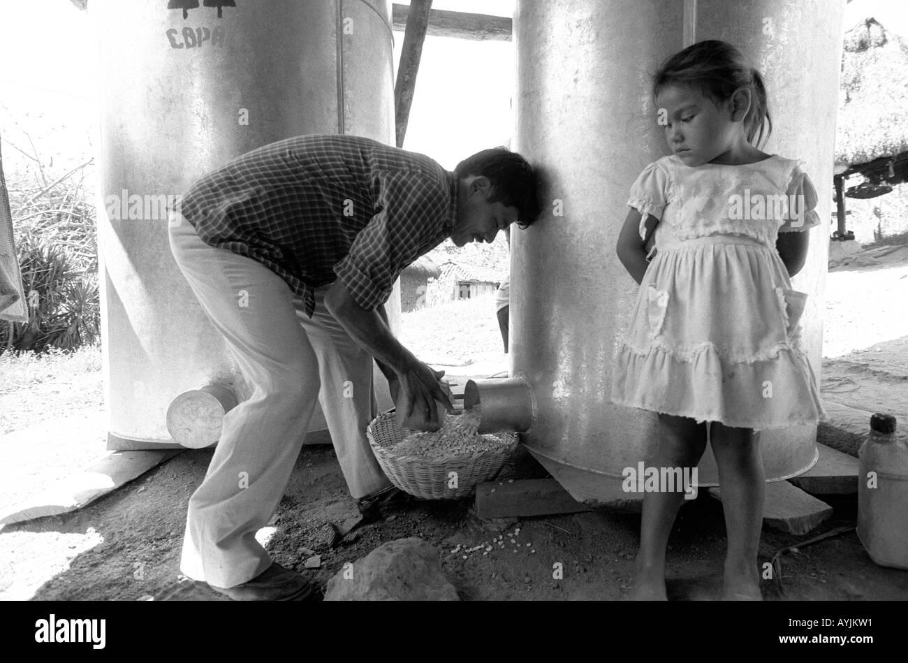 Pest proof grain storage. Honduras - Stock Image