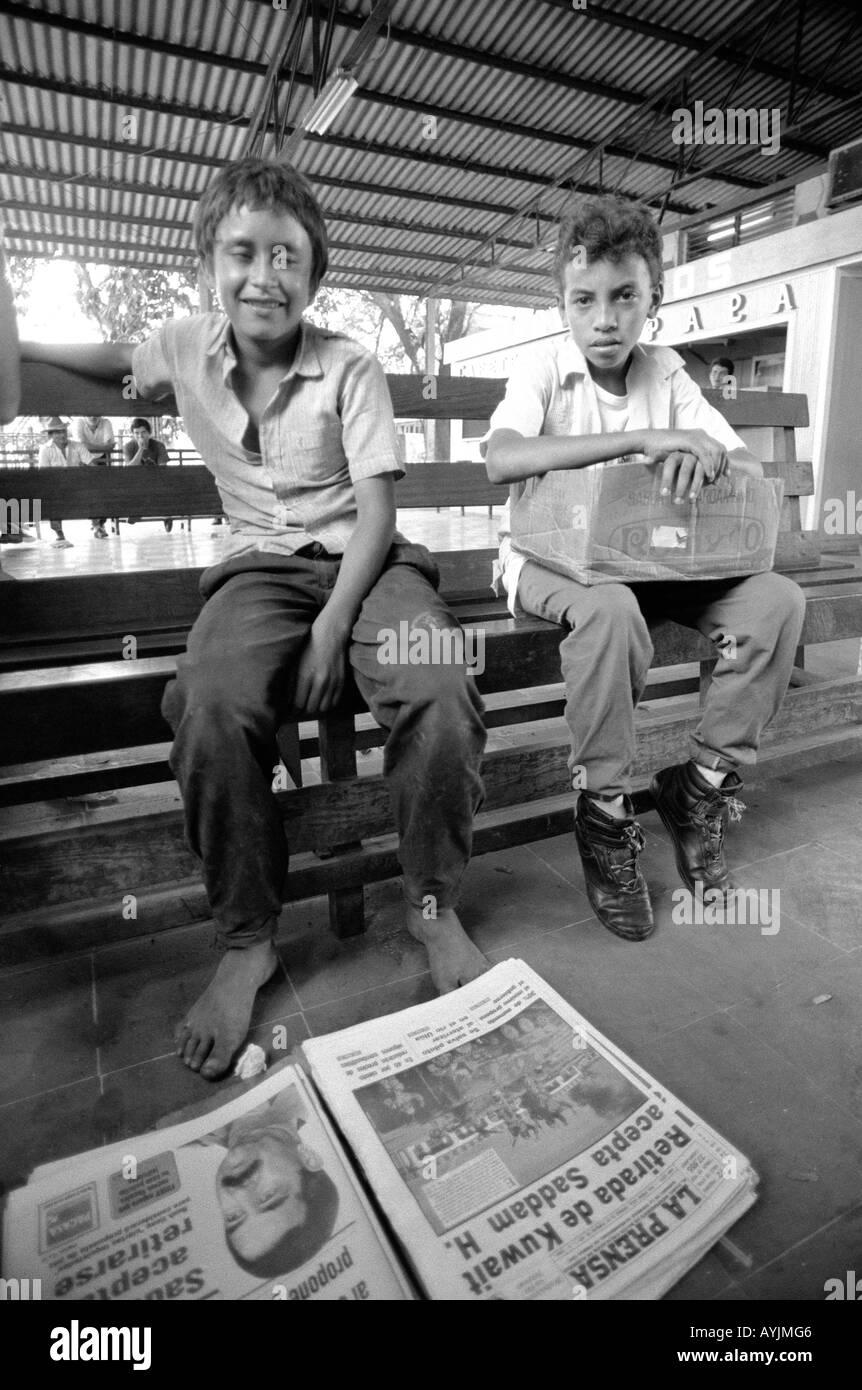Boy street sellers. Honduras Stock Photo