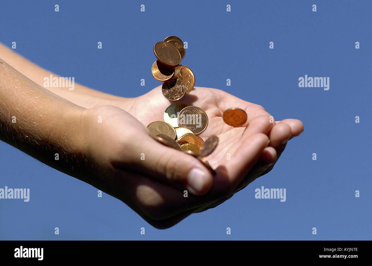 Geld bekommen - Stock Image