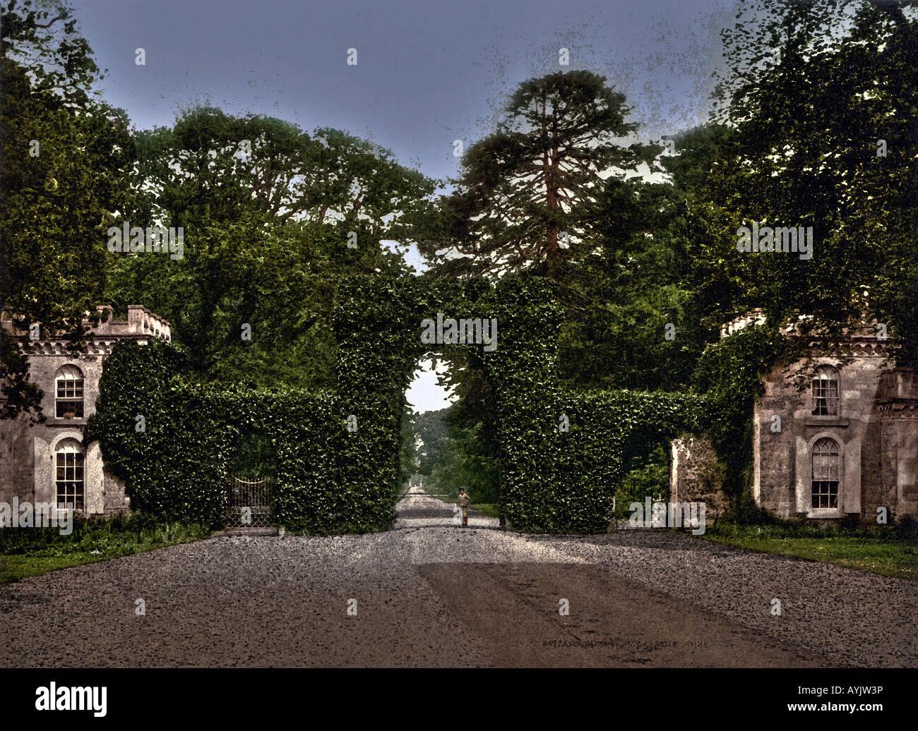 Eglinton Castle Entrance Gate Irvine North Ayrshire Scotland Stock Photo