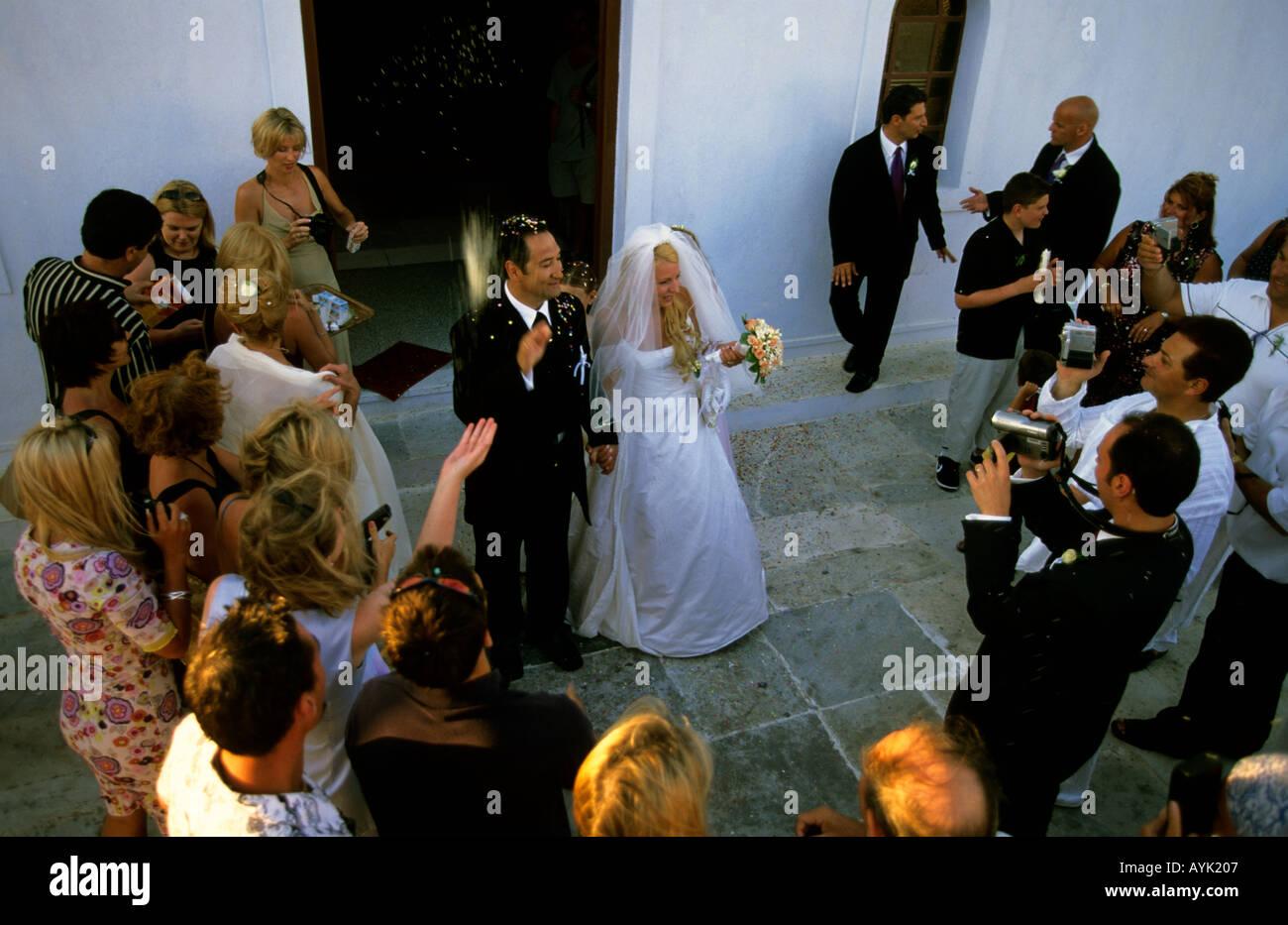 greece cyclades santorini traditional greek wedding church