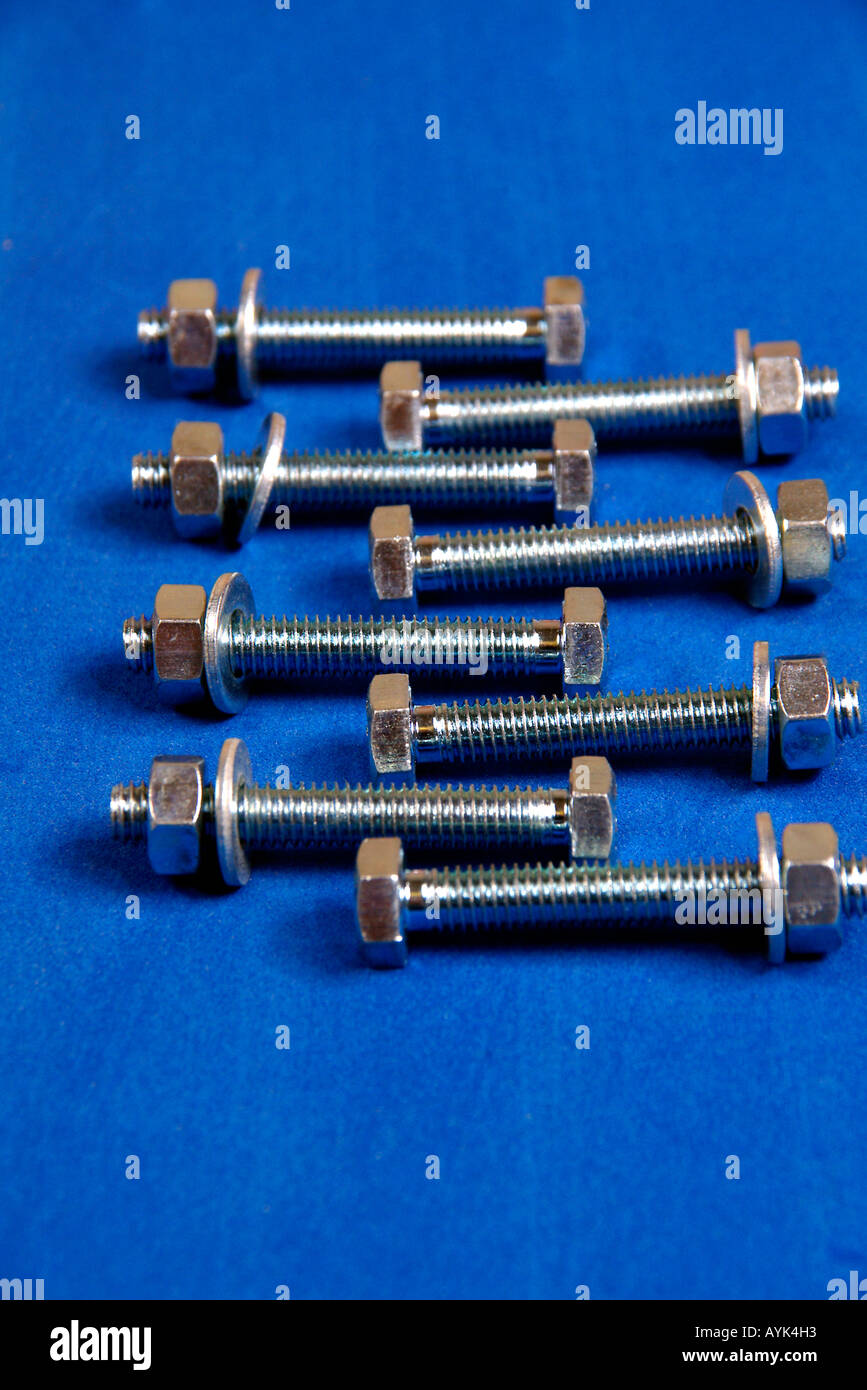 Nuts Bolts and Washers Stock Photo