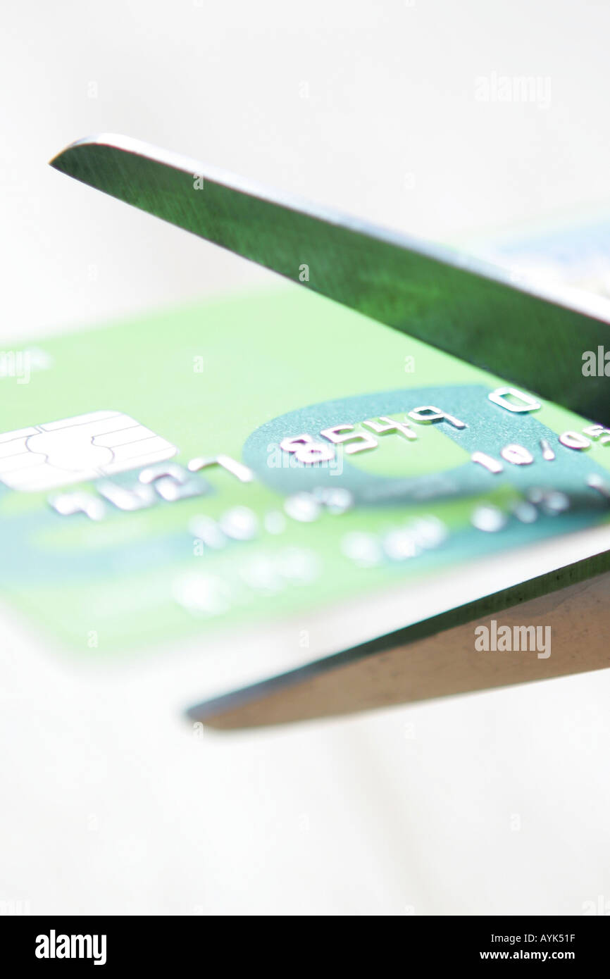 Cutting Up A Credit Card - Stock Image