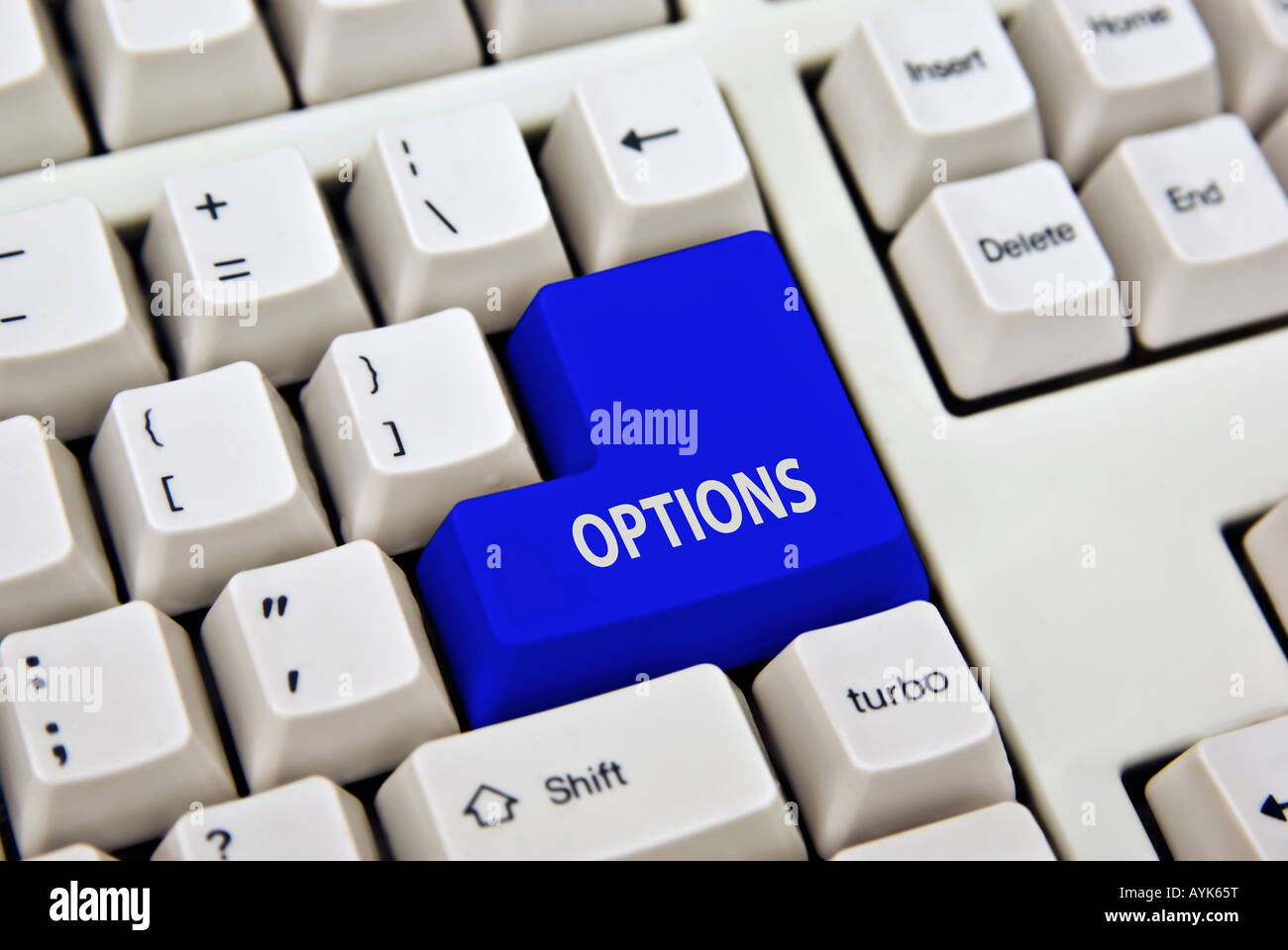 Whether you need IT business or financial options this is the key to press - Stock Image