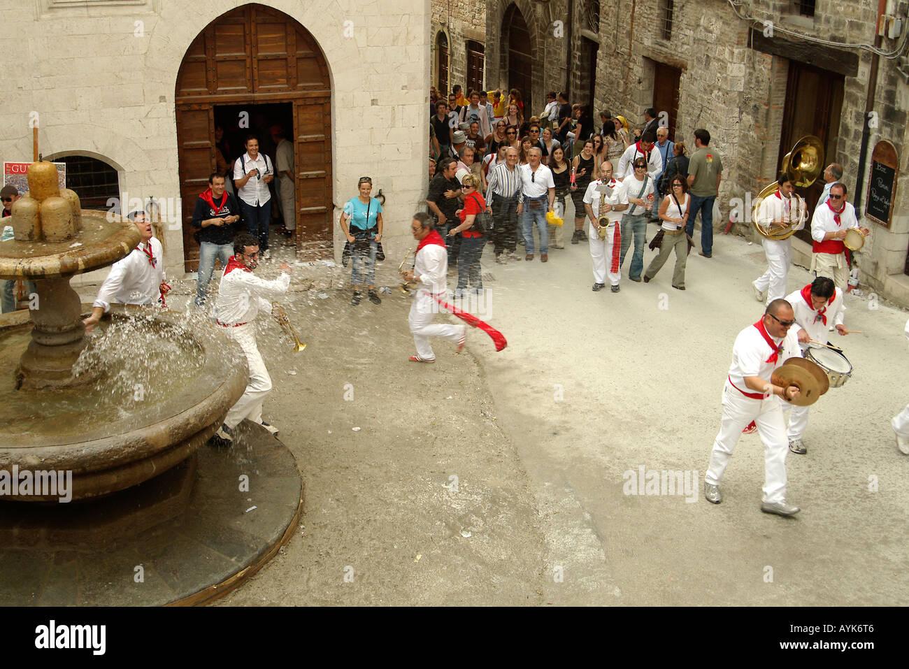 Gubbio Ceri Race Festival 15 May Umbria Italy - Stock Image