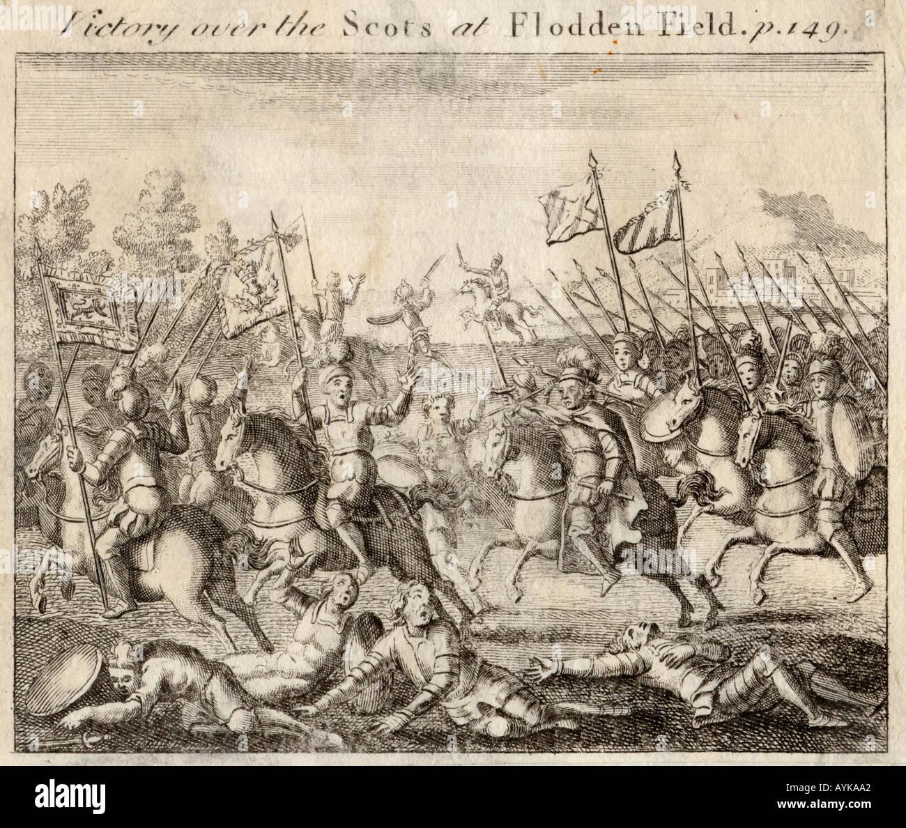 Battle Of Flodden - Stock Image