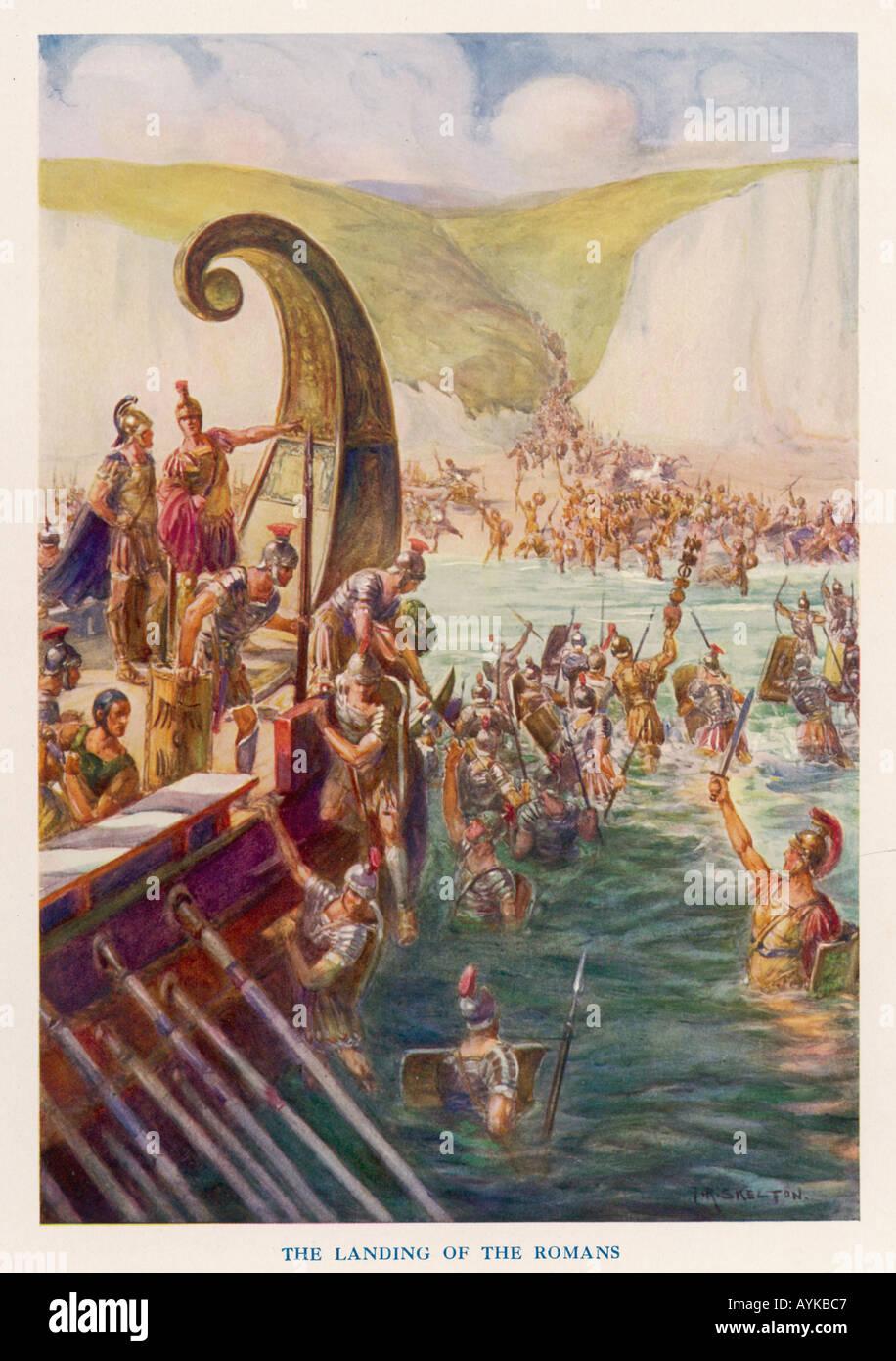Romans In Britain 54bc - Stock Image