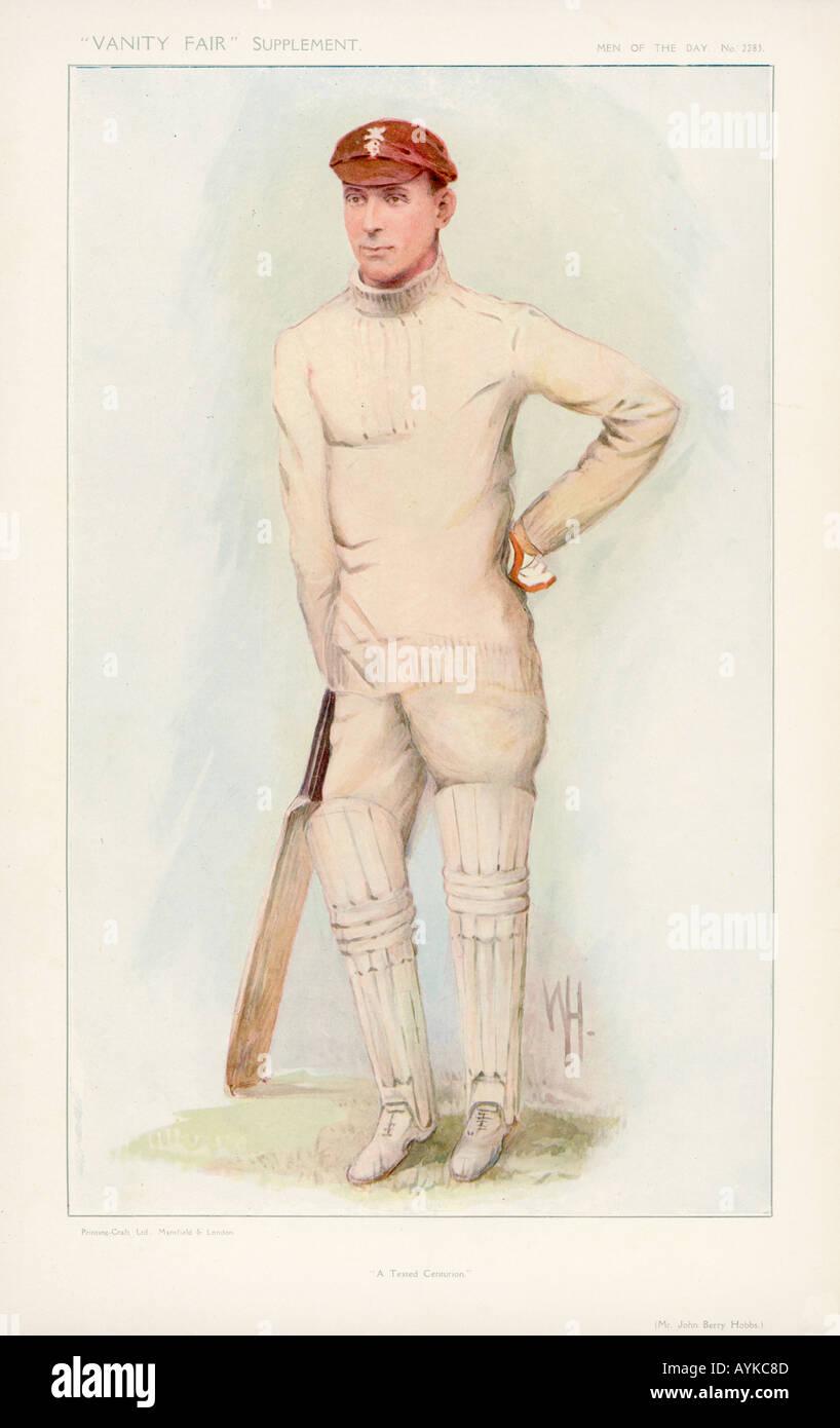 Jack Hobbs Cricketer - Stock Image
