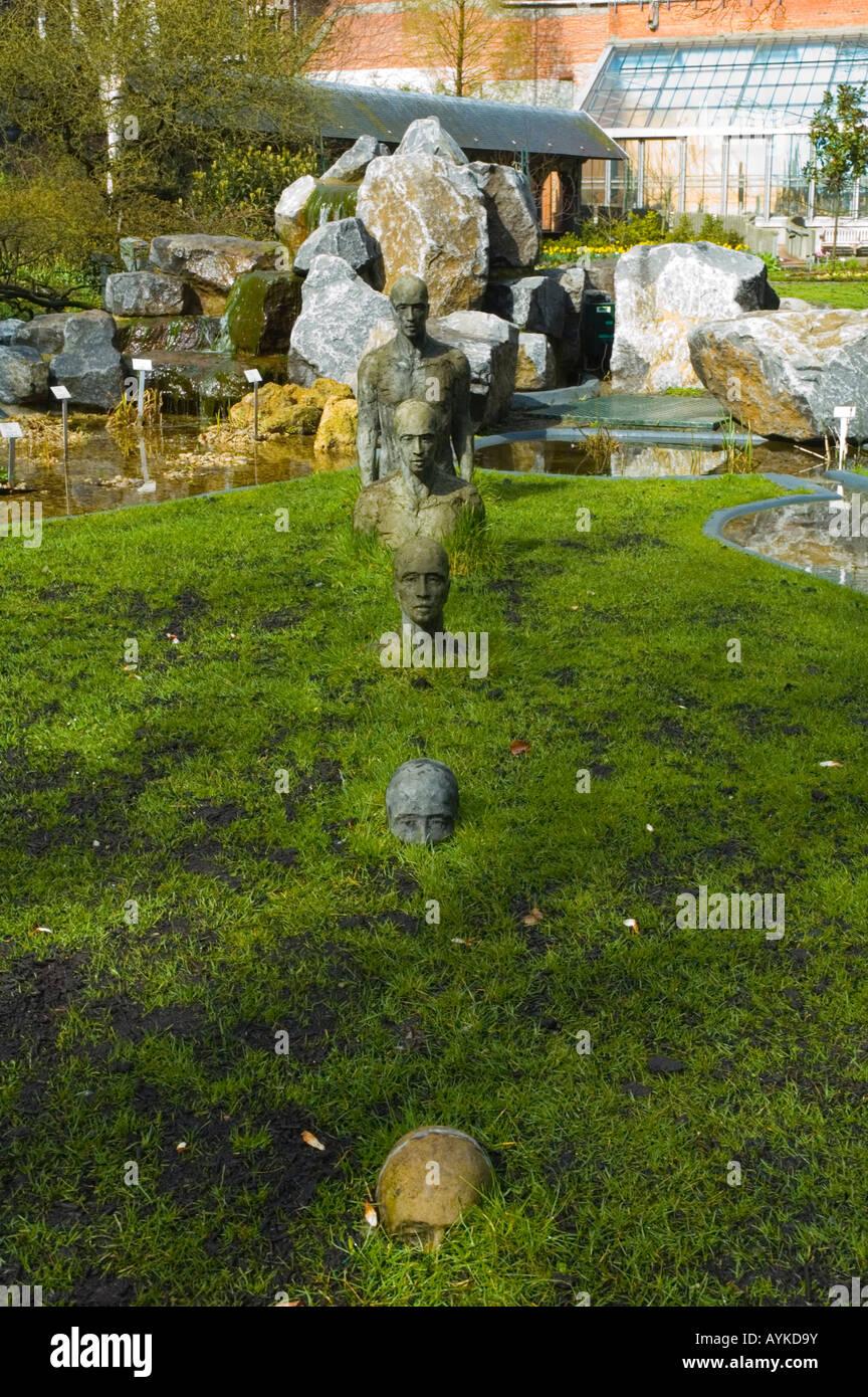 Statue in Plantentuin park in Antwerp Belgium Europe - Stock Image