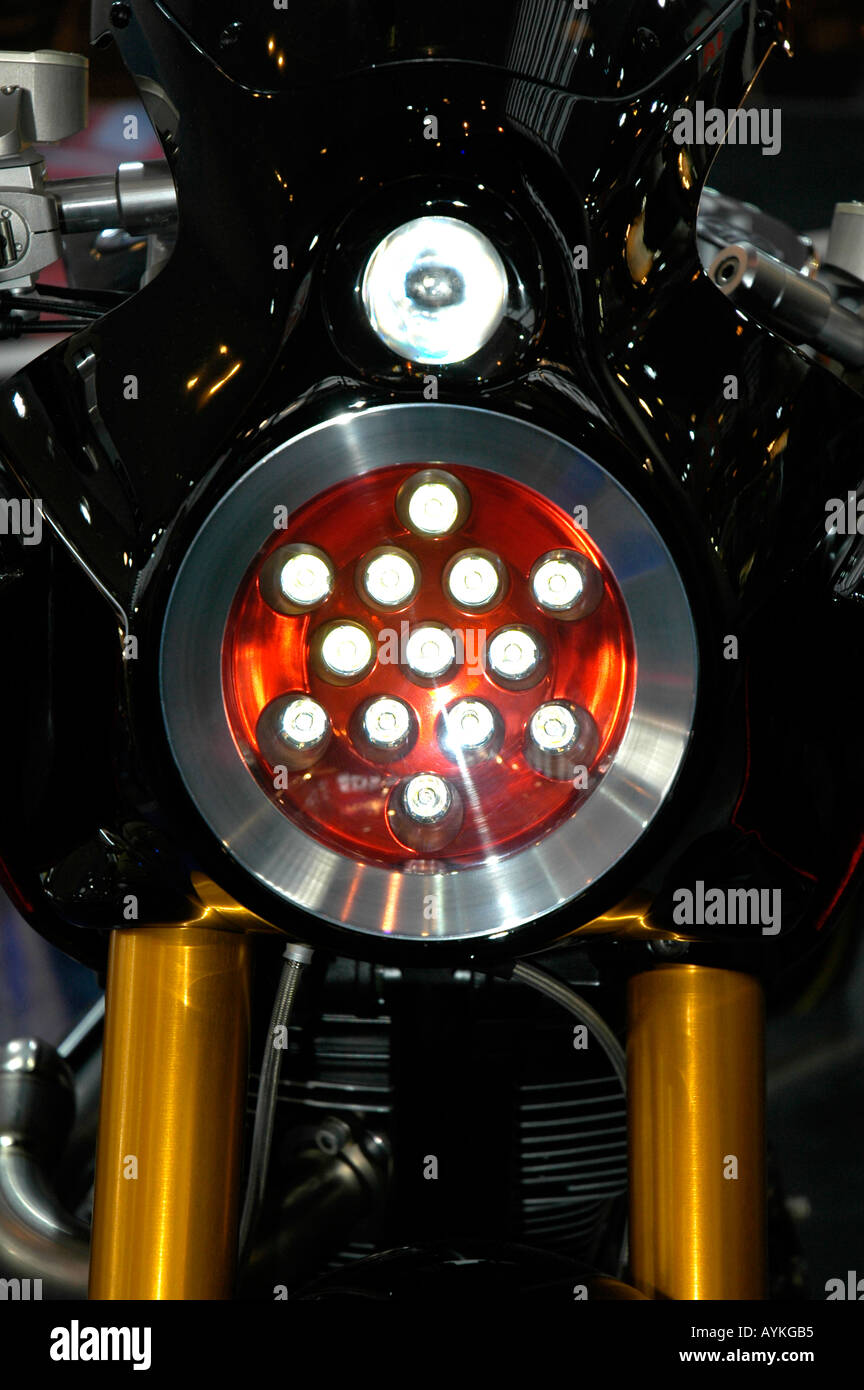 Yamaha bike,light front - Stock Image