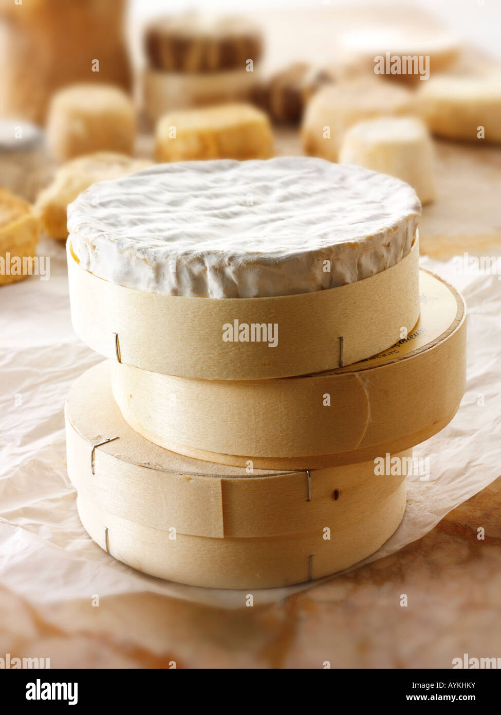 French Regional cheeses - Camembert - Stock Image