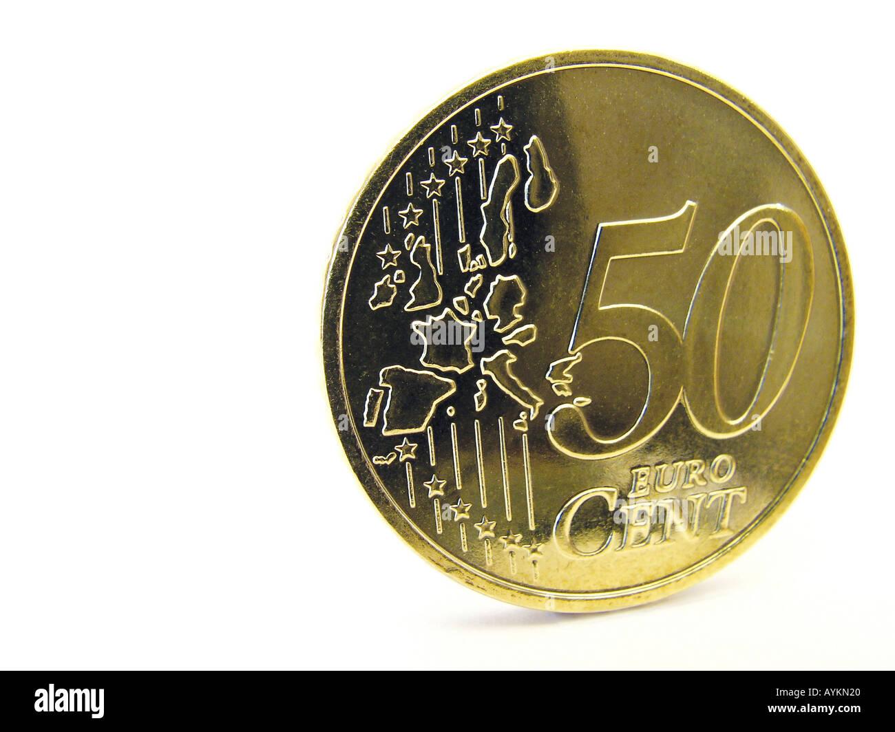 Fuenfzig Euro Cent - Stock Image