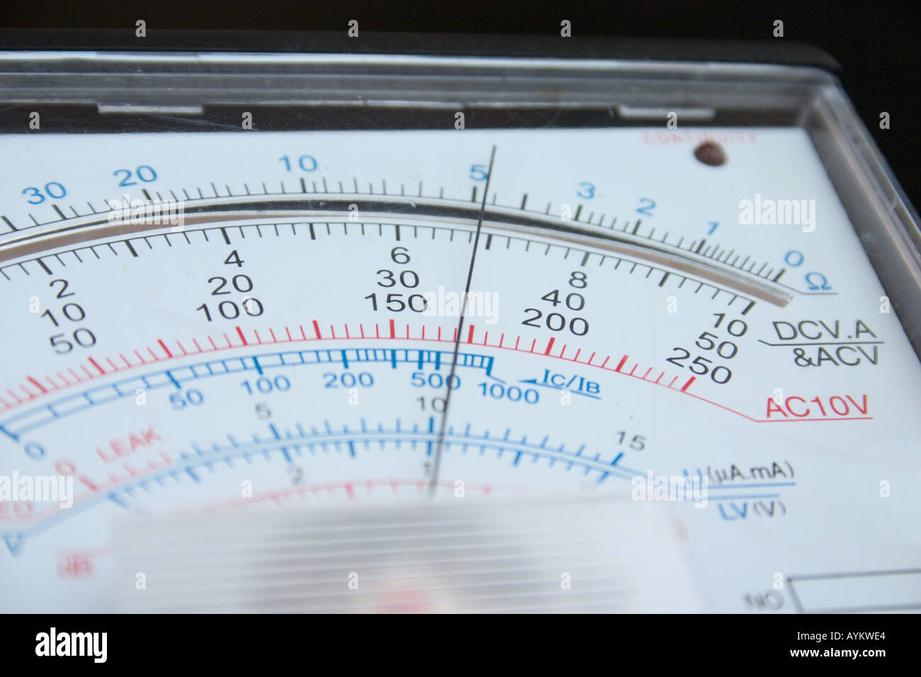 close up of analog multimeter - Stock Image