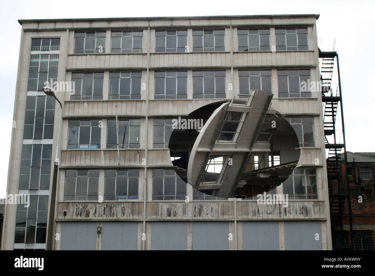 Turning the Place Over - Richard Wilson [Cross Keys House, 37-41 Moorfields, Liverpool, Merseyside, United Kingdom, - Stock Image