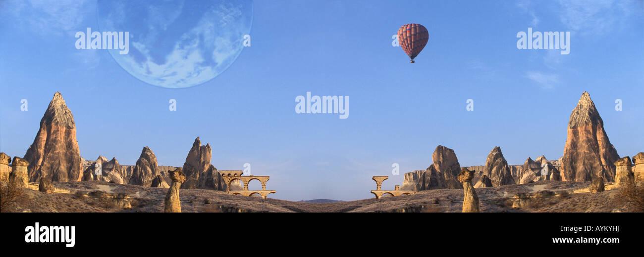 Fantastic panorama - Stock Image
