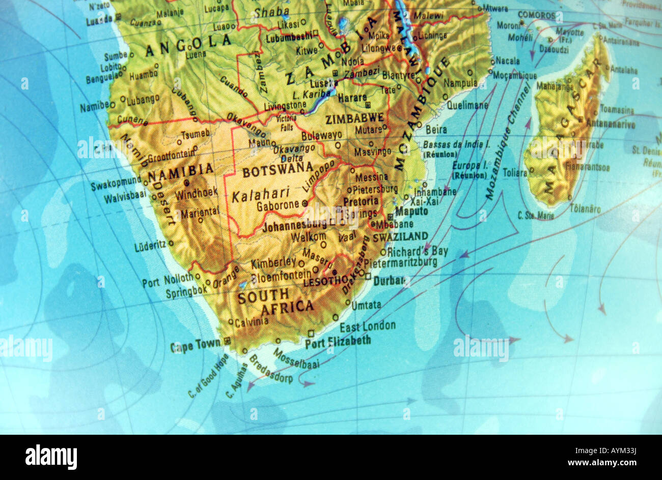 Image of: Close Up Shot Of Geographical Globe Focusing On South Africa And Stock Photo Alamy