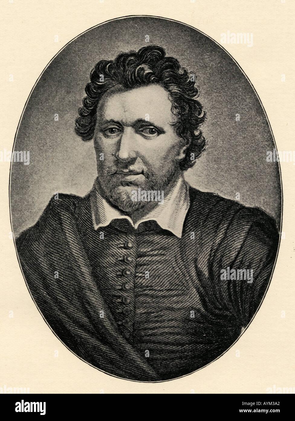 Ben Jonson, aka Benjamin Johnson, 1572 - 1637.   English playwright, poet, actor, and literary critic, - Stock Image