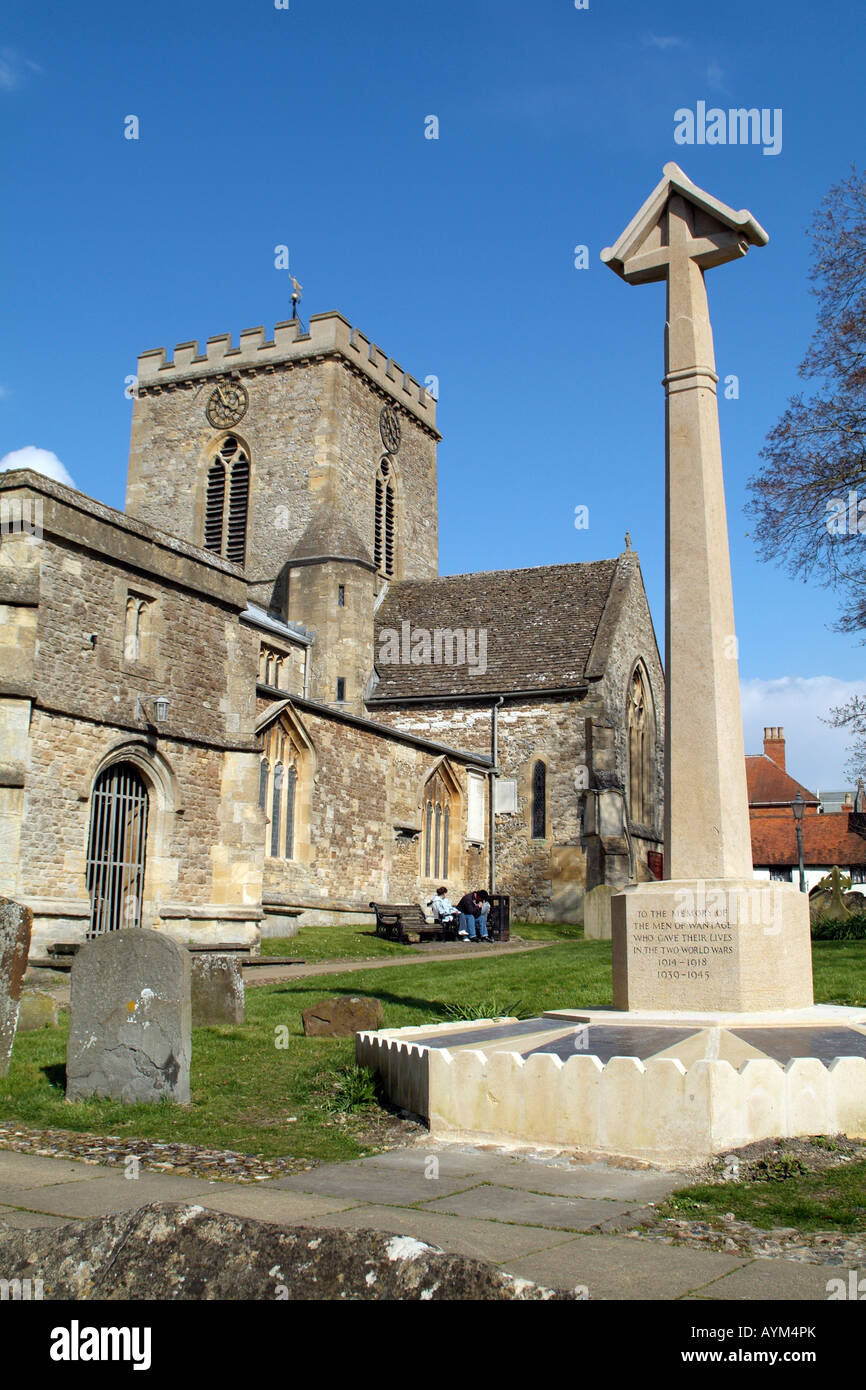 Parish Church St Peter and St Paul Wantage Oxfordshire England - Stock Image