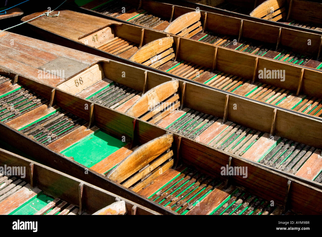 Oxford punts. - Stock Image